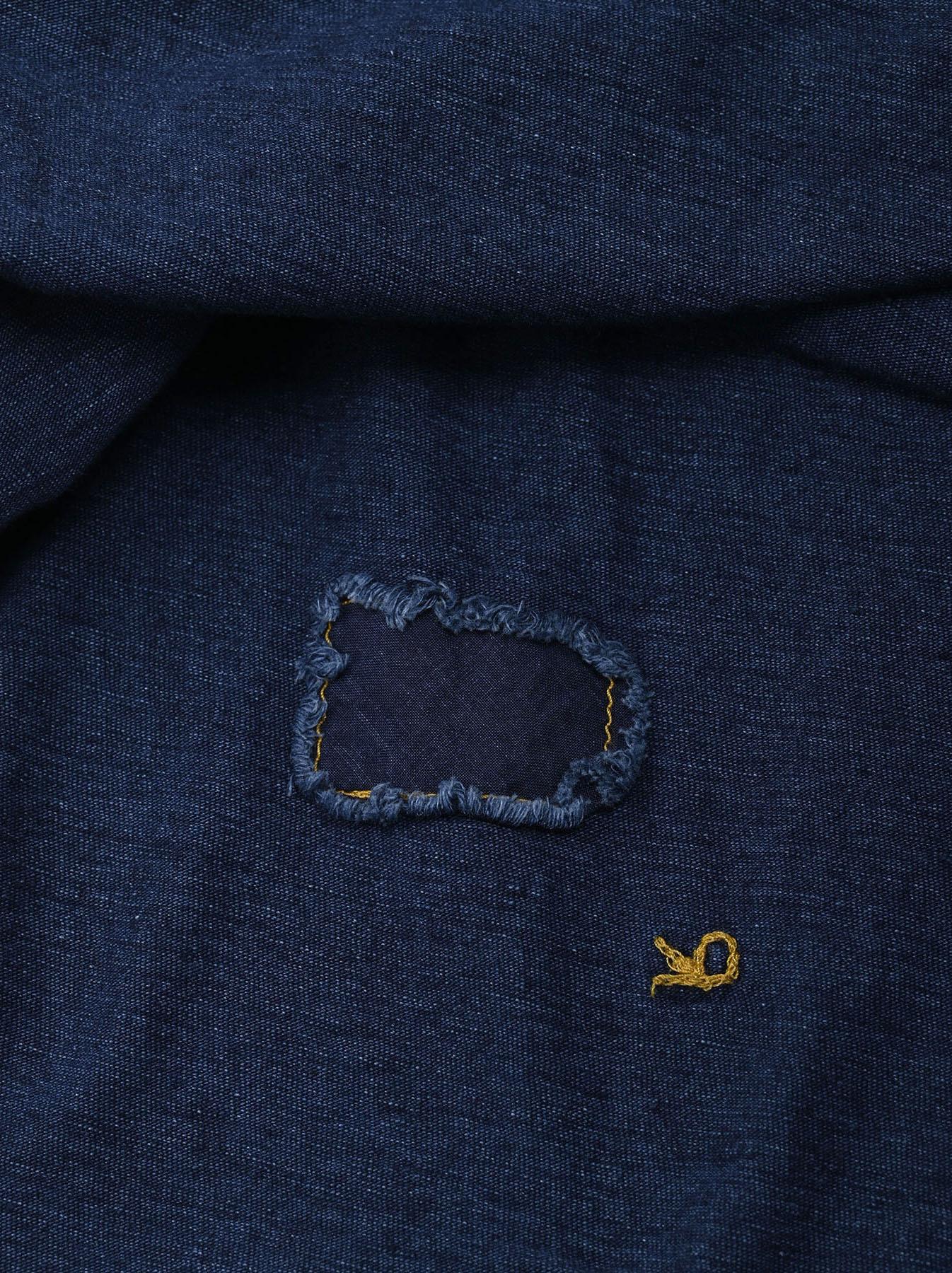 Indigo Zyu Zimbabwe Cotton Big Slit T-shirt (0721)-10