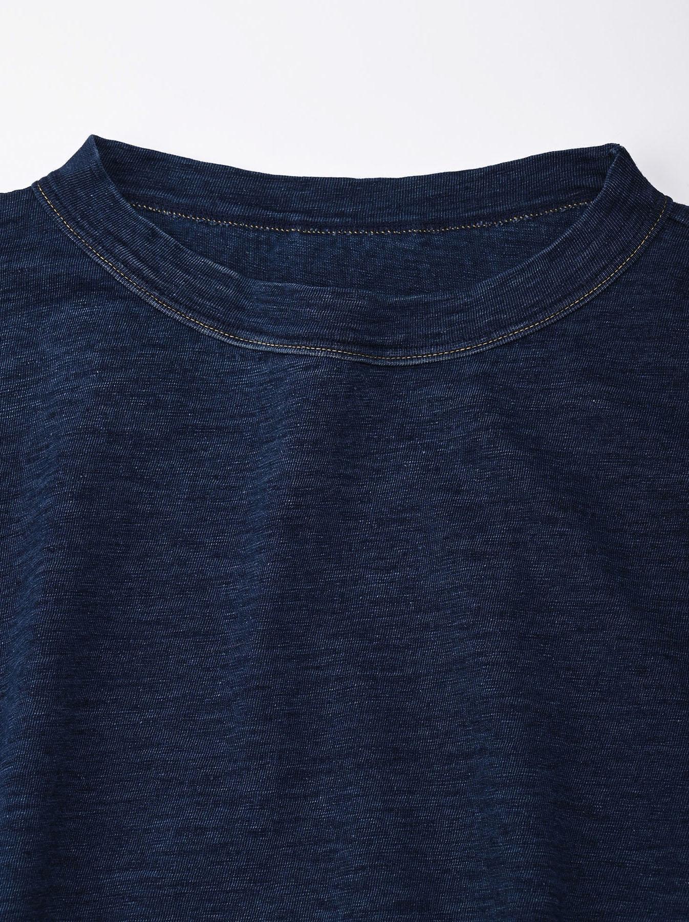 Indigo Zyu Zimbabwe Cotton Big Slit T-shirt (0721)-7