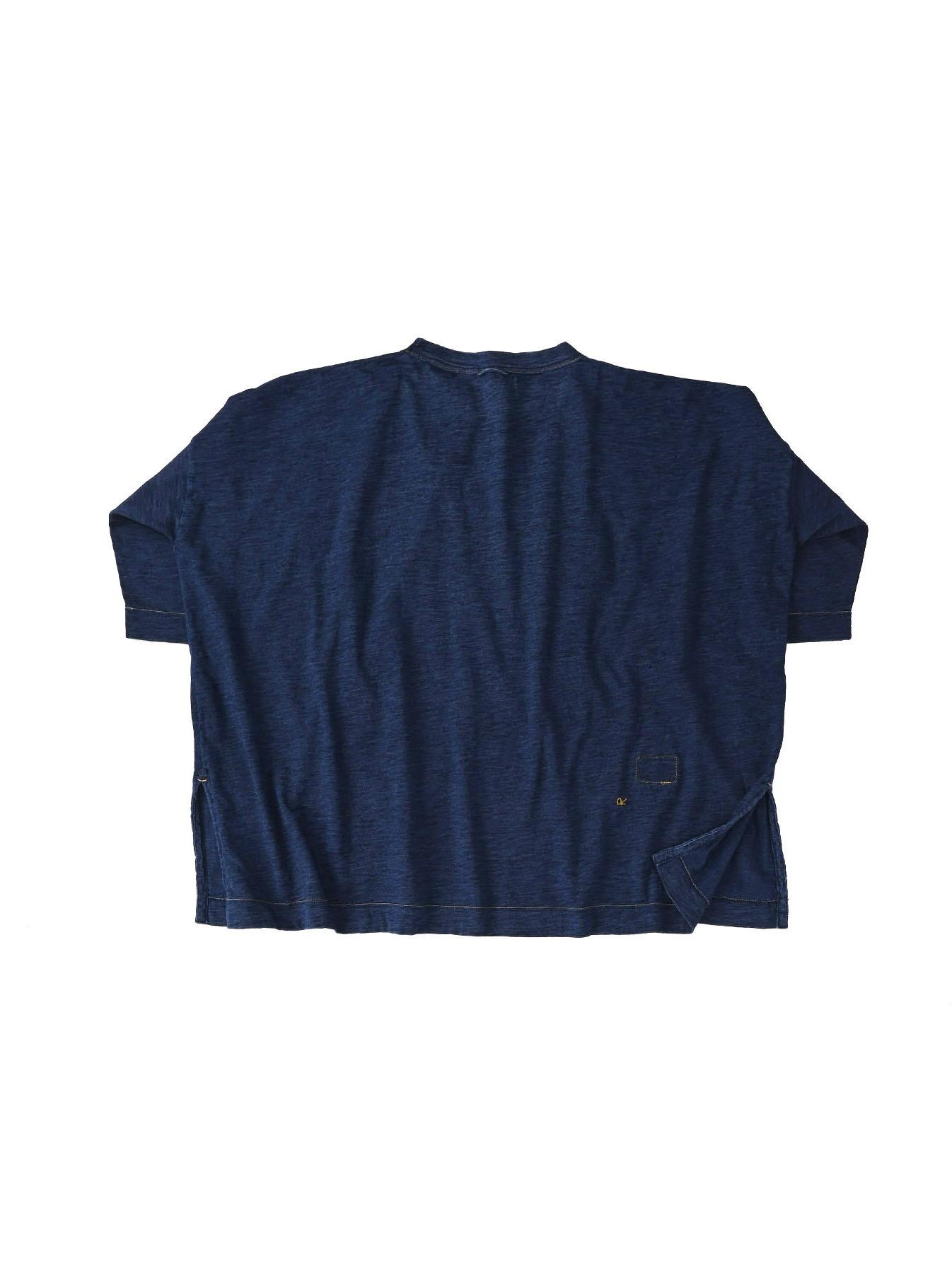 Indigo Zyu Zimbabwe Cotton Big Slit T-shirt (0721)-6