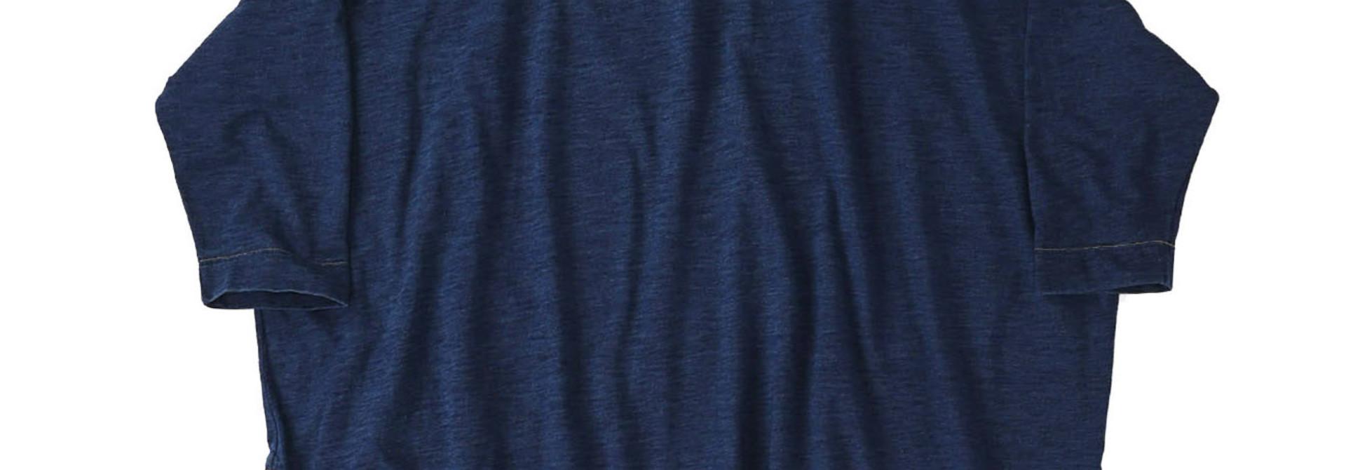 Indigo Zyu Zimbabwe Cotton Big Slit T-shirt (0721)
