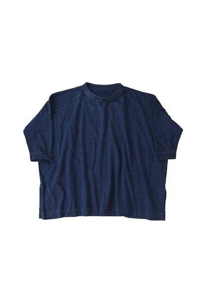 Indigo Zyu Zimbabwe Cotton Big Slit T-shirt