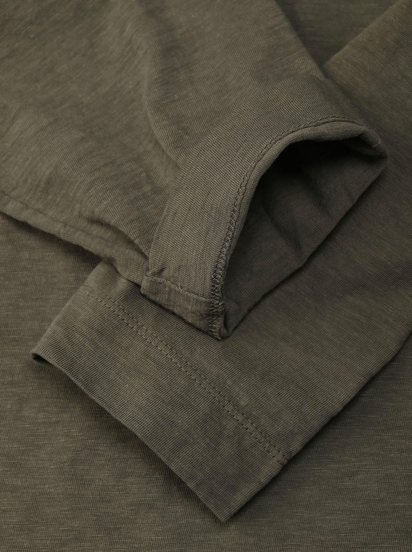 Zimbabwe Cotton Big Slit T-shirt (0721)-10