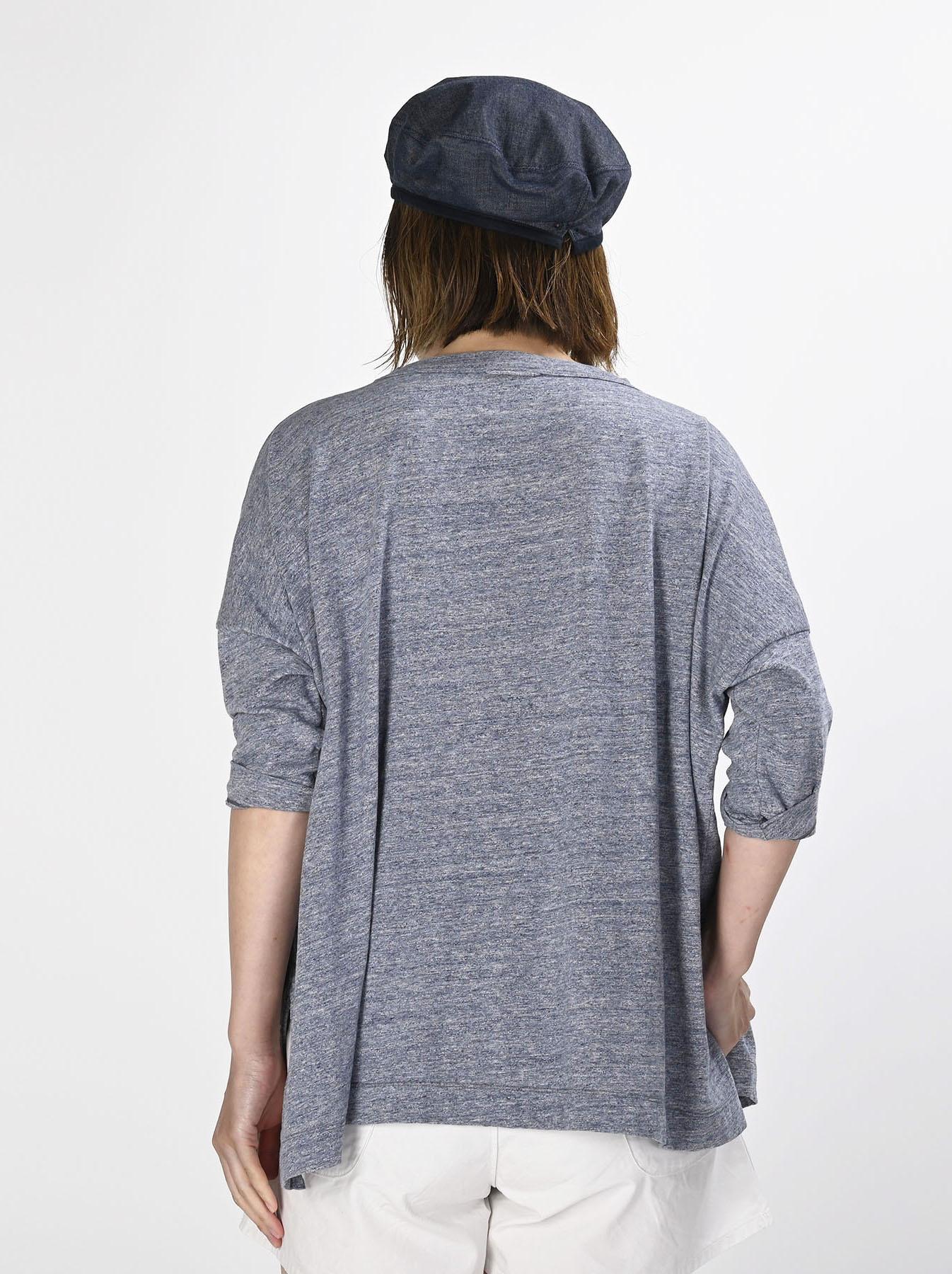 Top Zimbabwe Cotton Big Slit T-shirt (0721)-4
