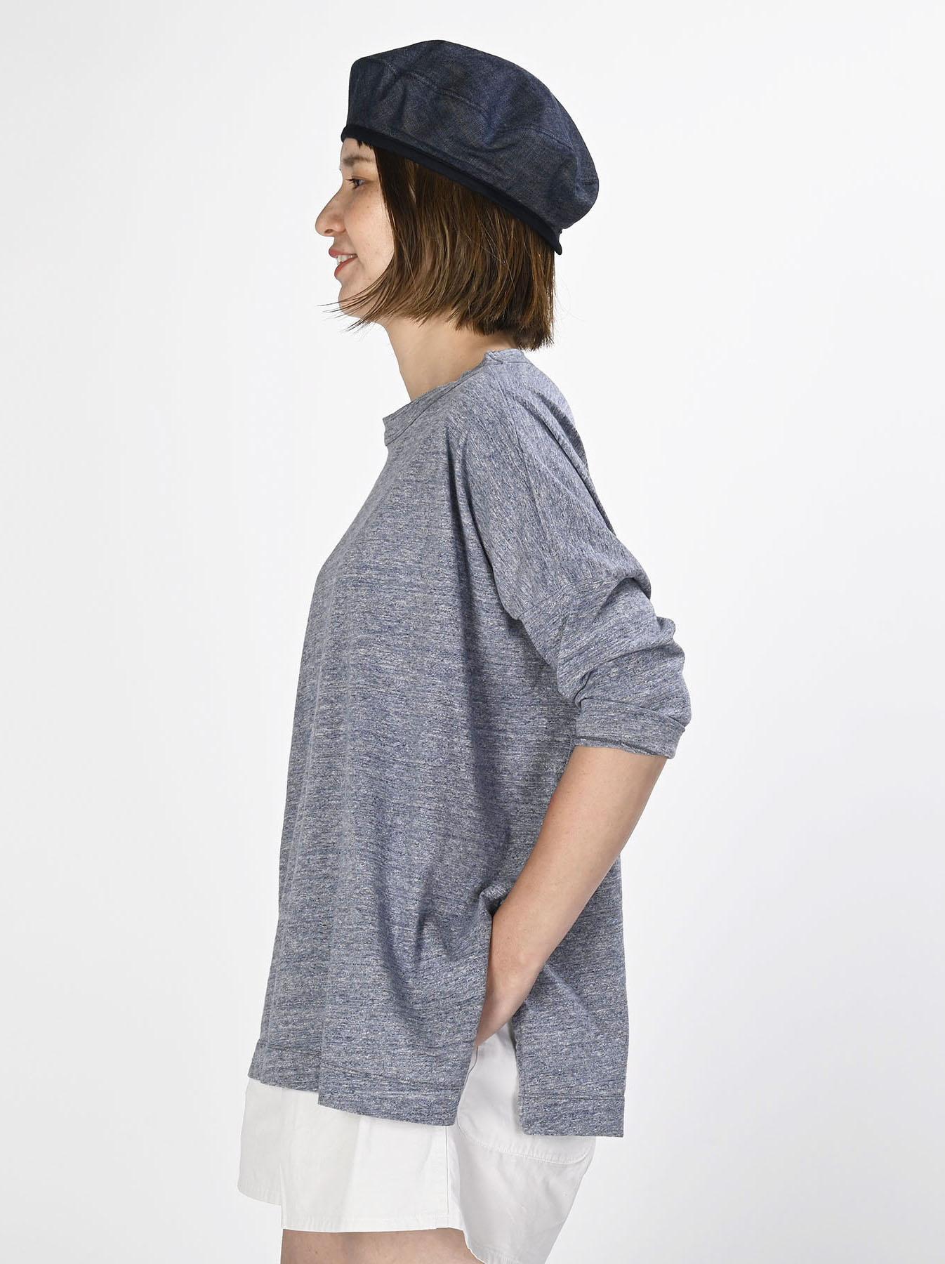Top Zimbabwe Cotton Big Slit T-shirt (0721)-3