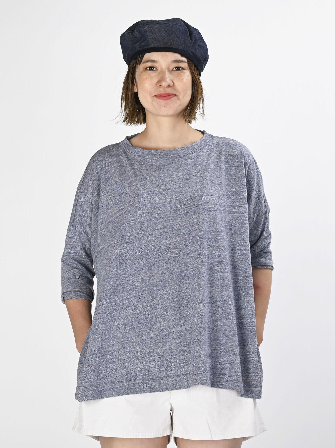 Top Zimbabwe Cotton Big Slit T-shirt (0721)-2