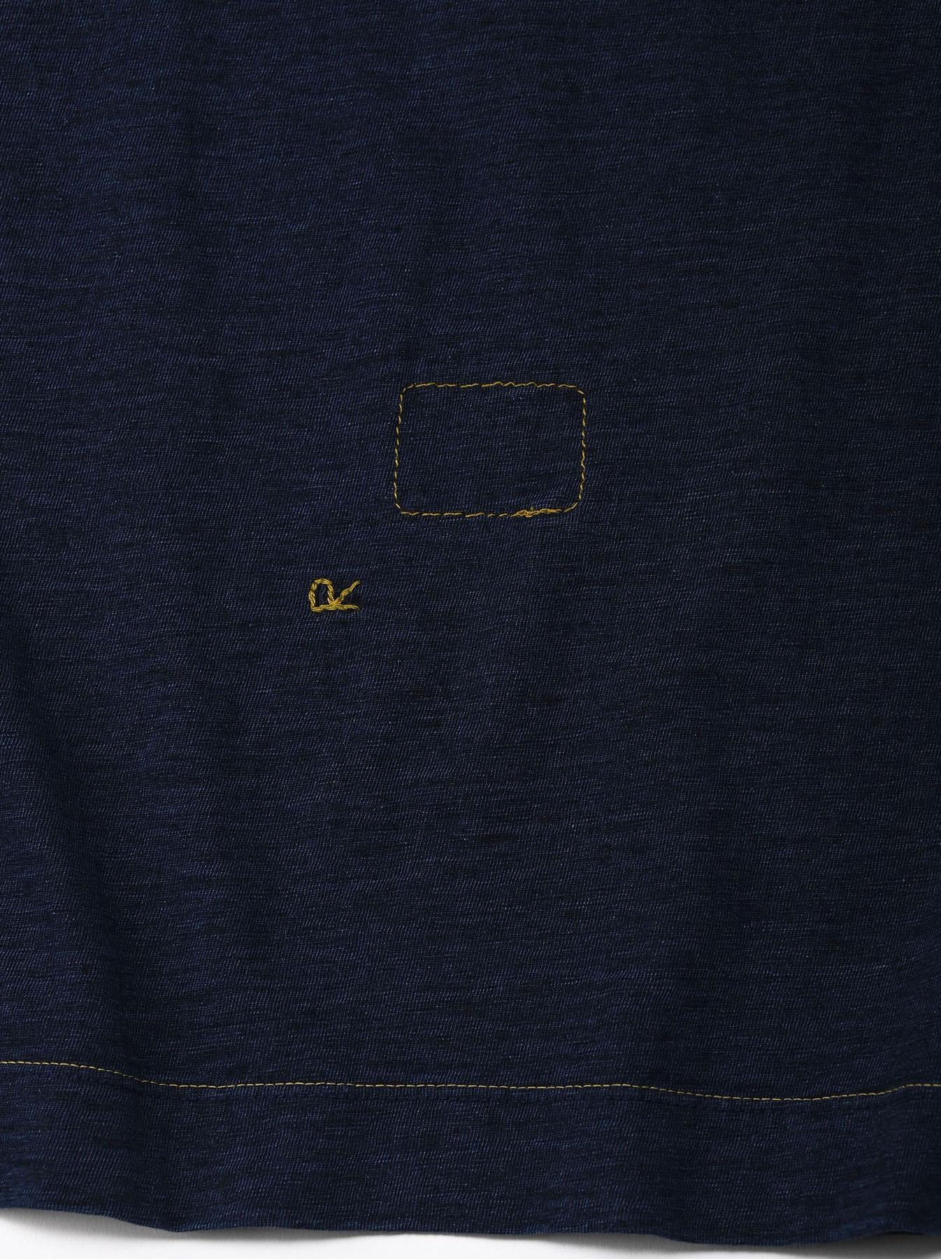 Indigo Nou Zimbabwe Cotton Big Slit T-shirt (0721)-9