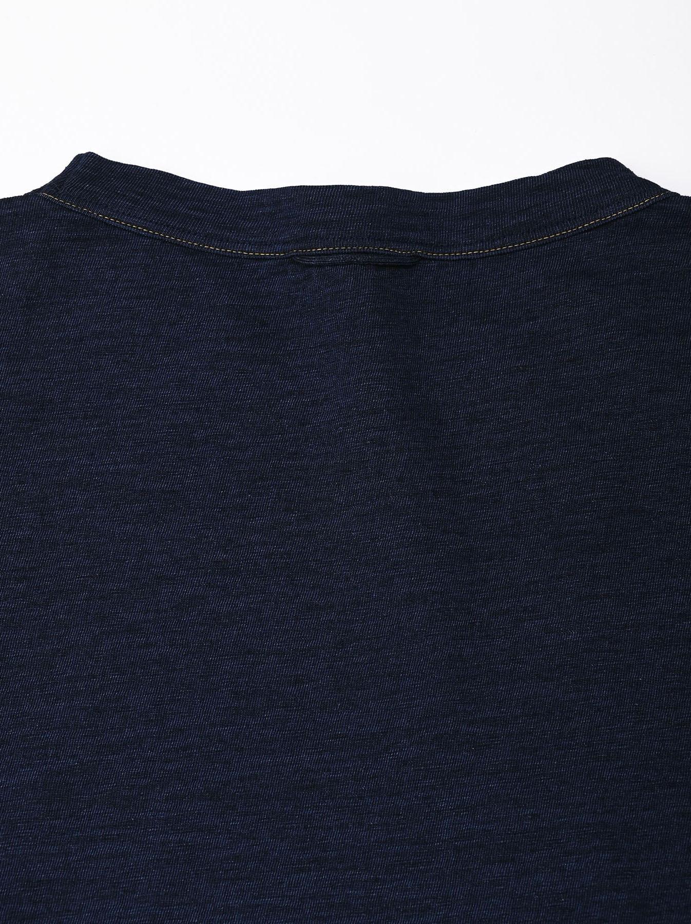 Indigo Nou Zimbabwe Cotton Big Slit T-shirt (0721)-8