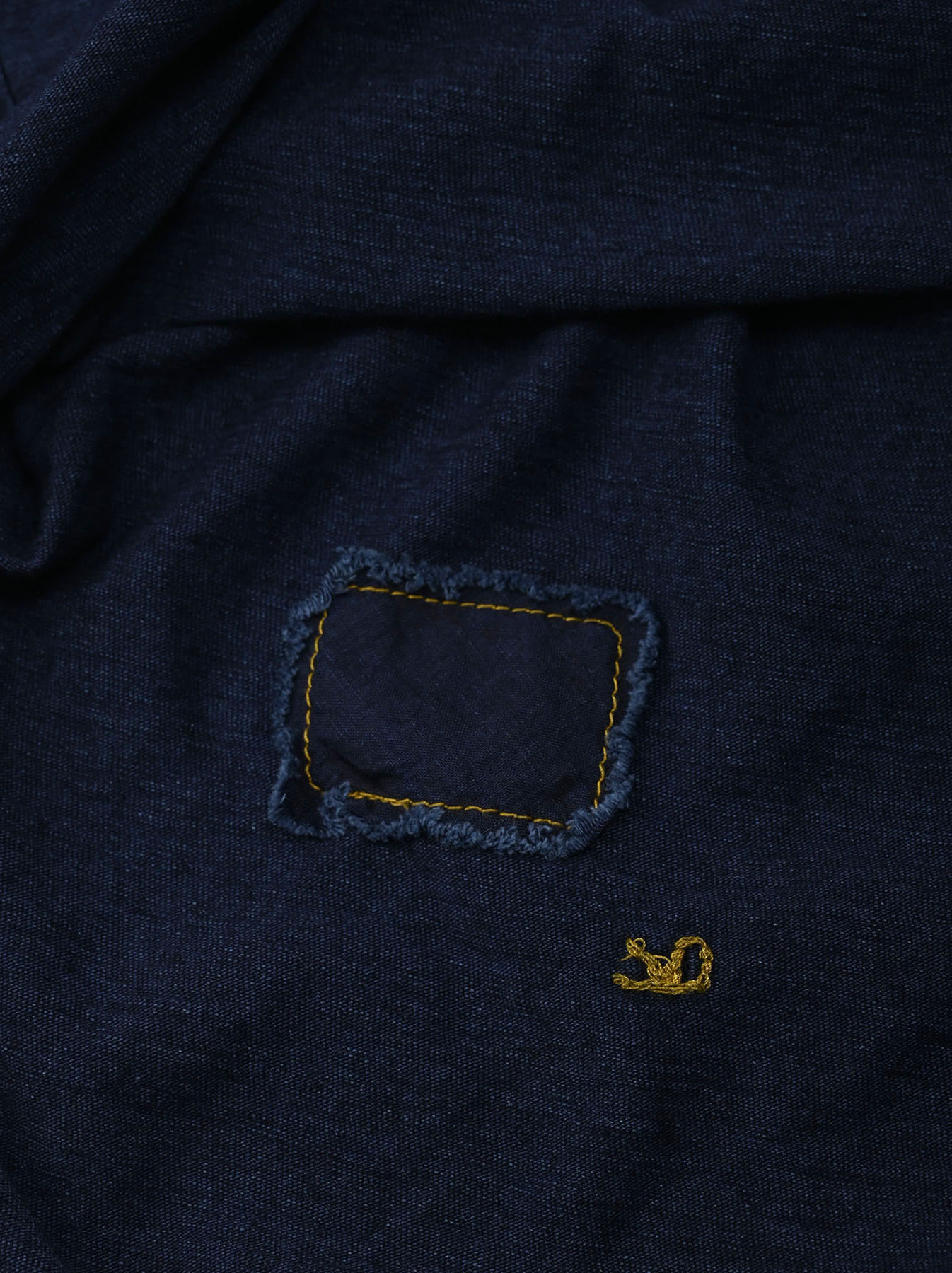 Indigo Nou Zimbabwe Cotton Big Slit T-shirt (0721)-10