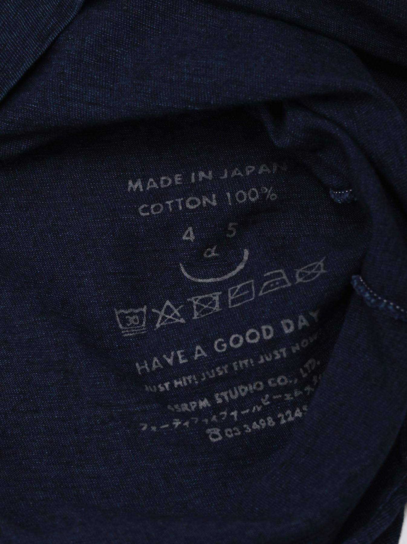 Indigo Nou Zimbabwe Cotton Big Slit T-shirt (0721)-11