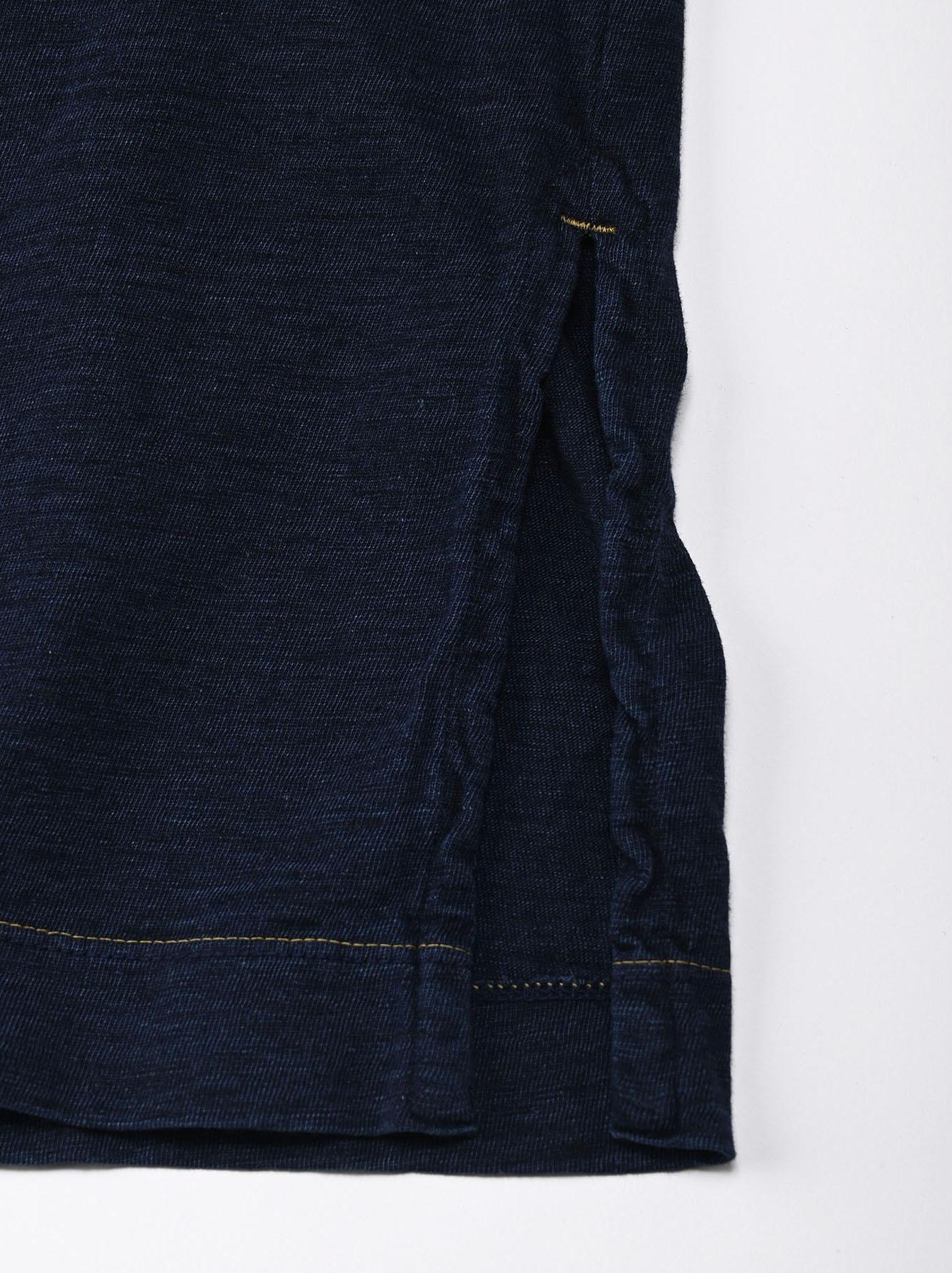 Indigo Nou Zimbabwe Cotton Big Slit T-shirt (0721)-6