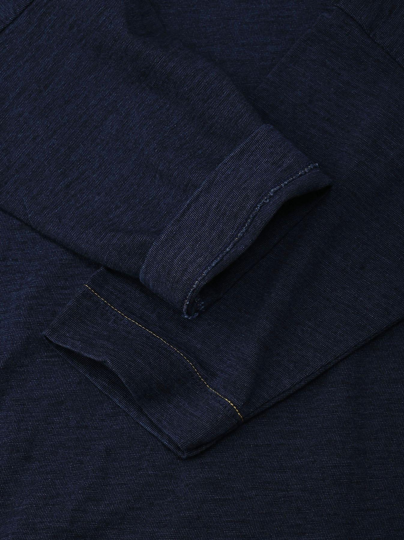 Indigo Nou Zimbabwe Cotton Big Slit T-shirt (0721)-7