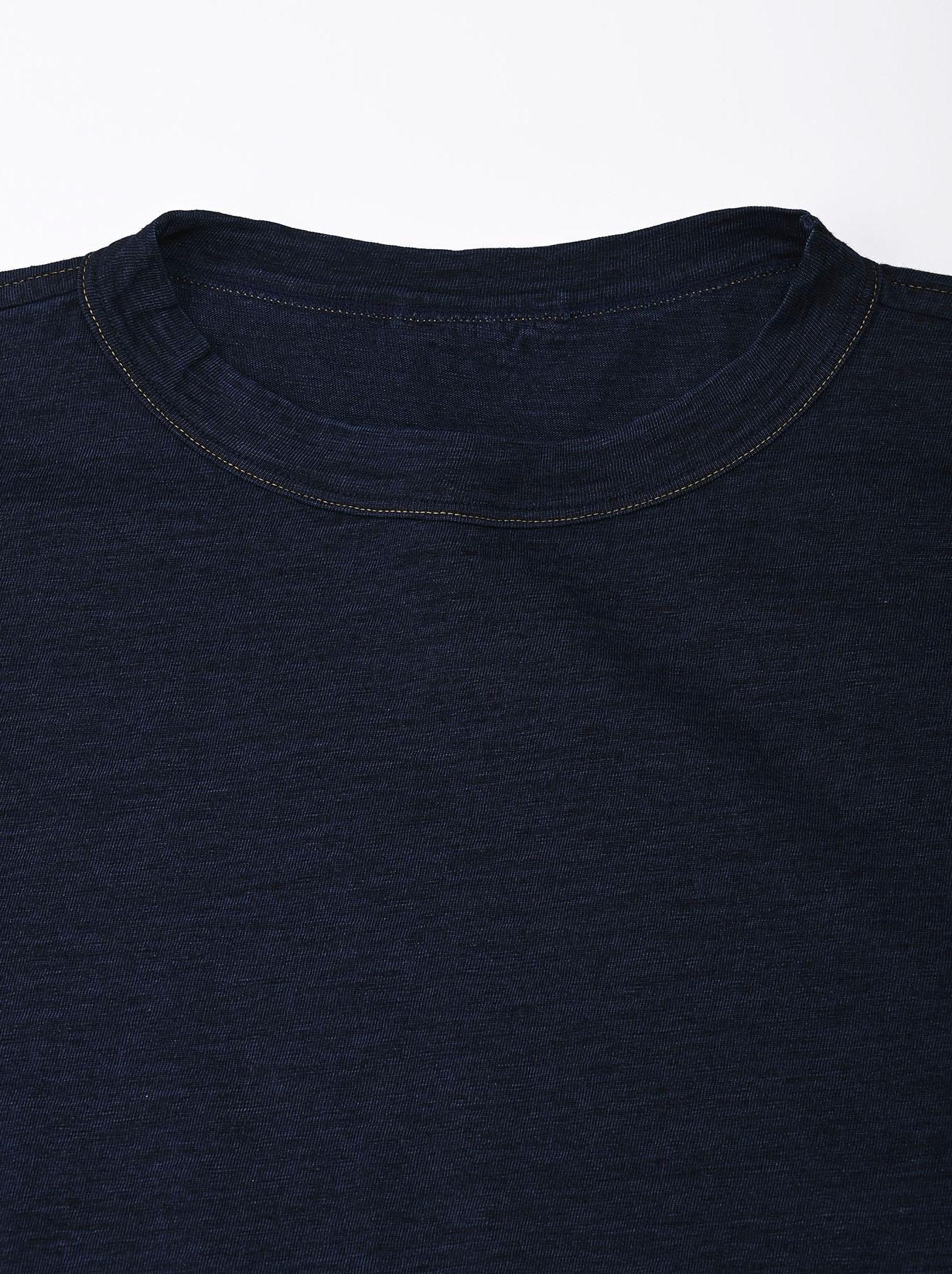 Indigo Nou Zimbabwe Cotton Big Slit T-shirt (0721)-5