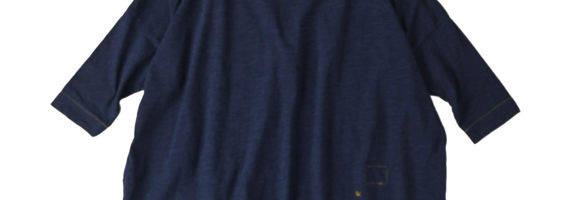 Indigo Nou Zimbabwe Cotton Big Slit T-shirt (0721)