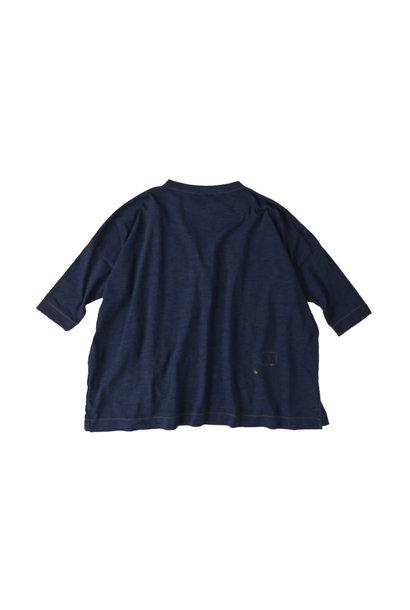 Indigo Nou Zimbabwe Cotton Big Slit T-shirt
