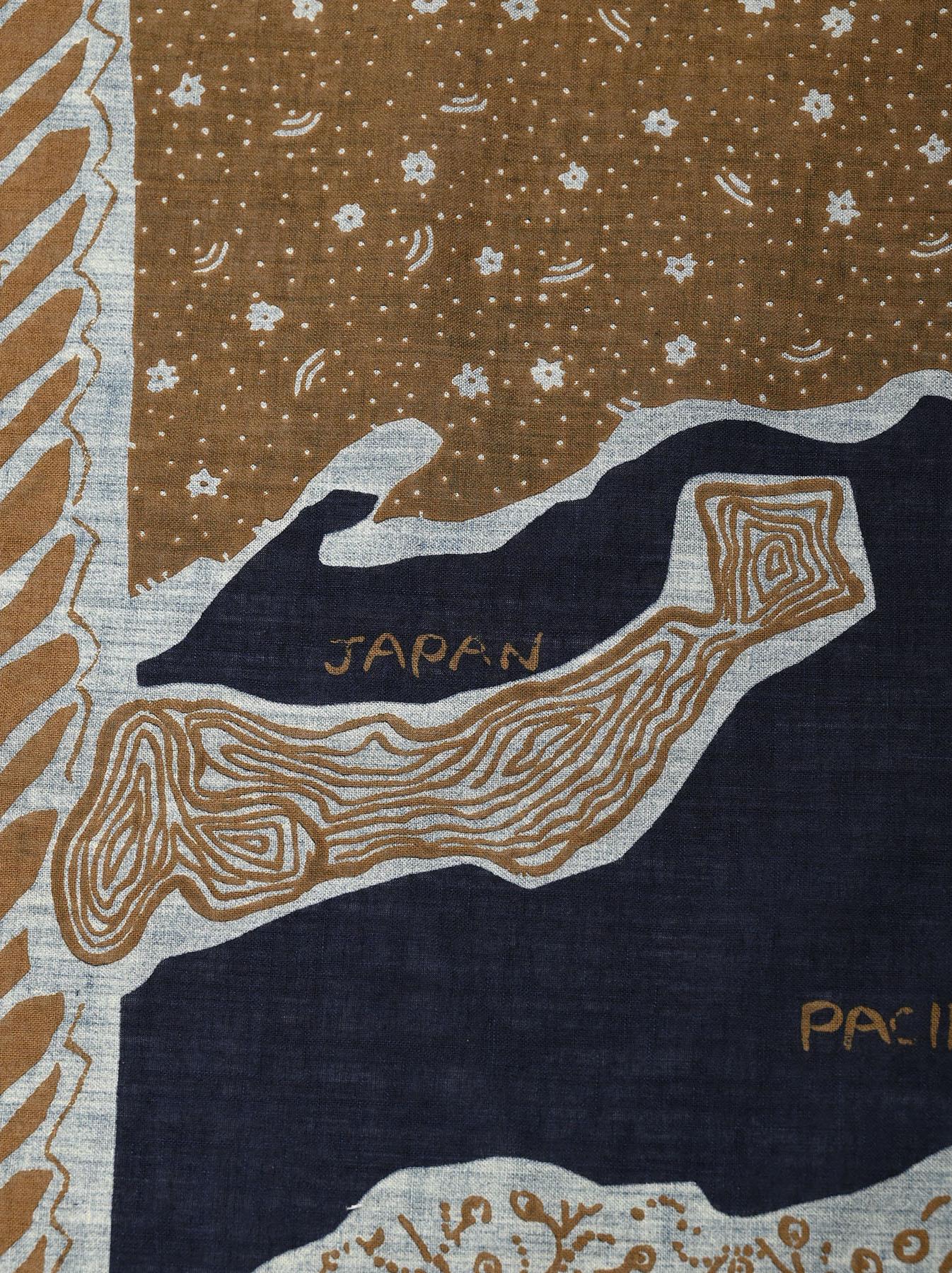 Indigo Selvage Map Bandana (0721)-6
