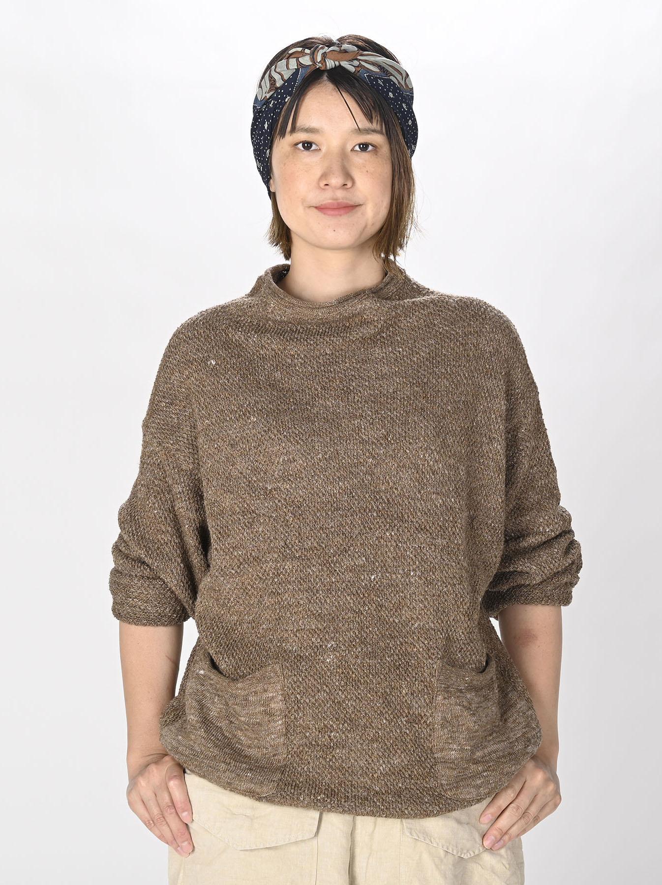 Linen Pique 908 Umahiko Sweater(0721)-3