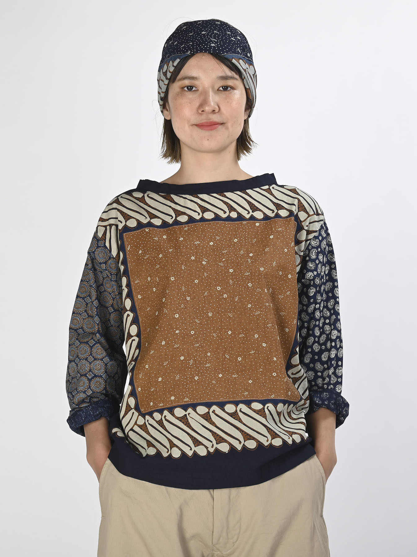 Batik Bandana Blouse(0721)-3