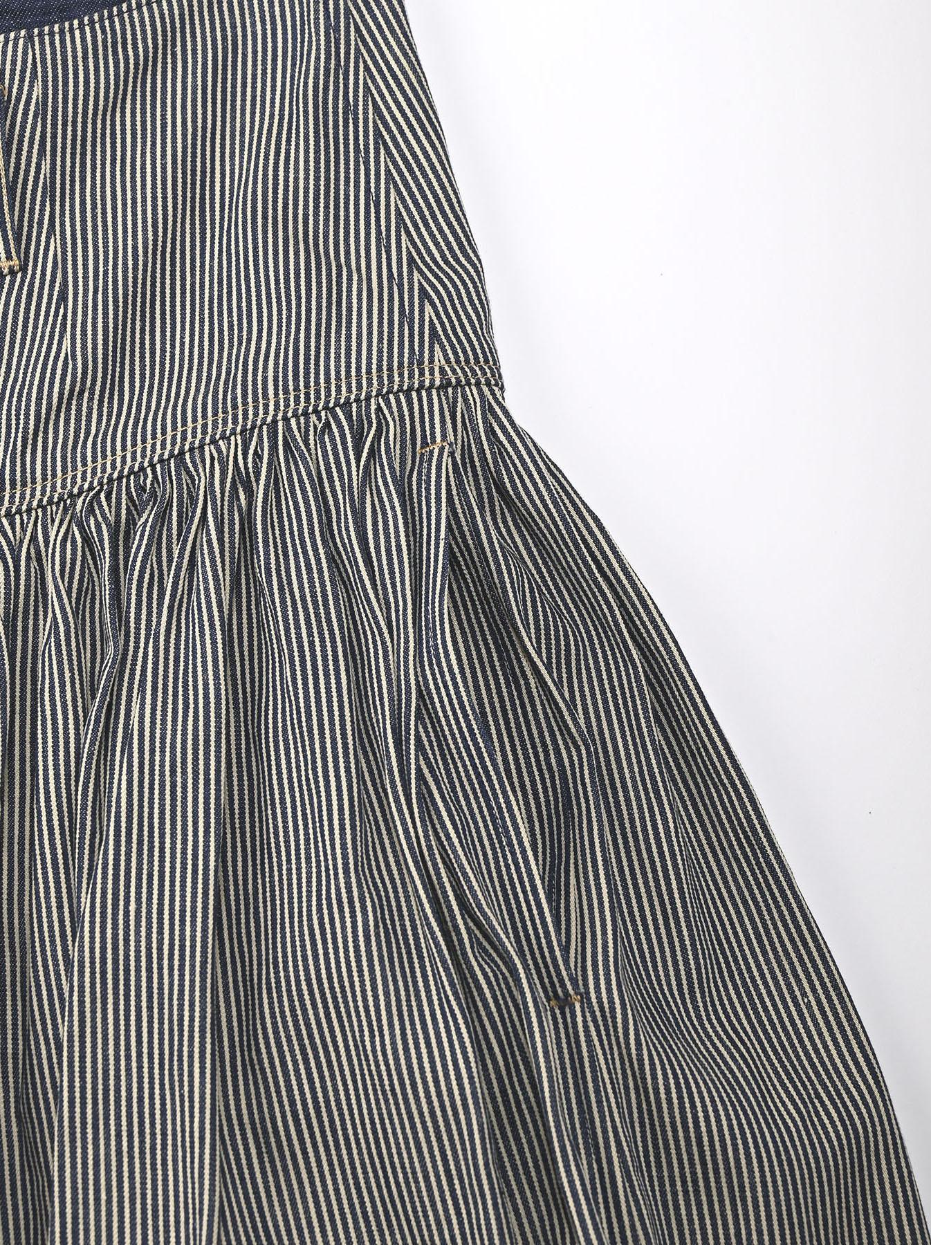 Denim Gathered Culottes Skirt(0721)-9
