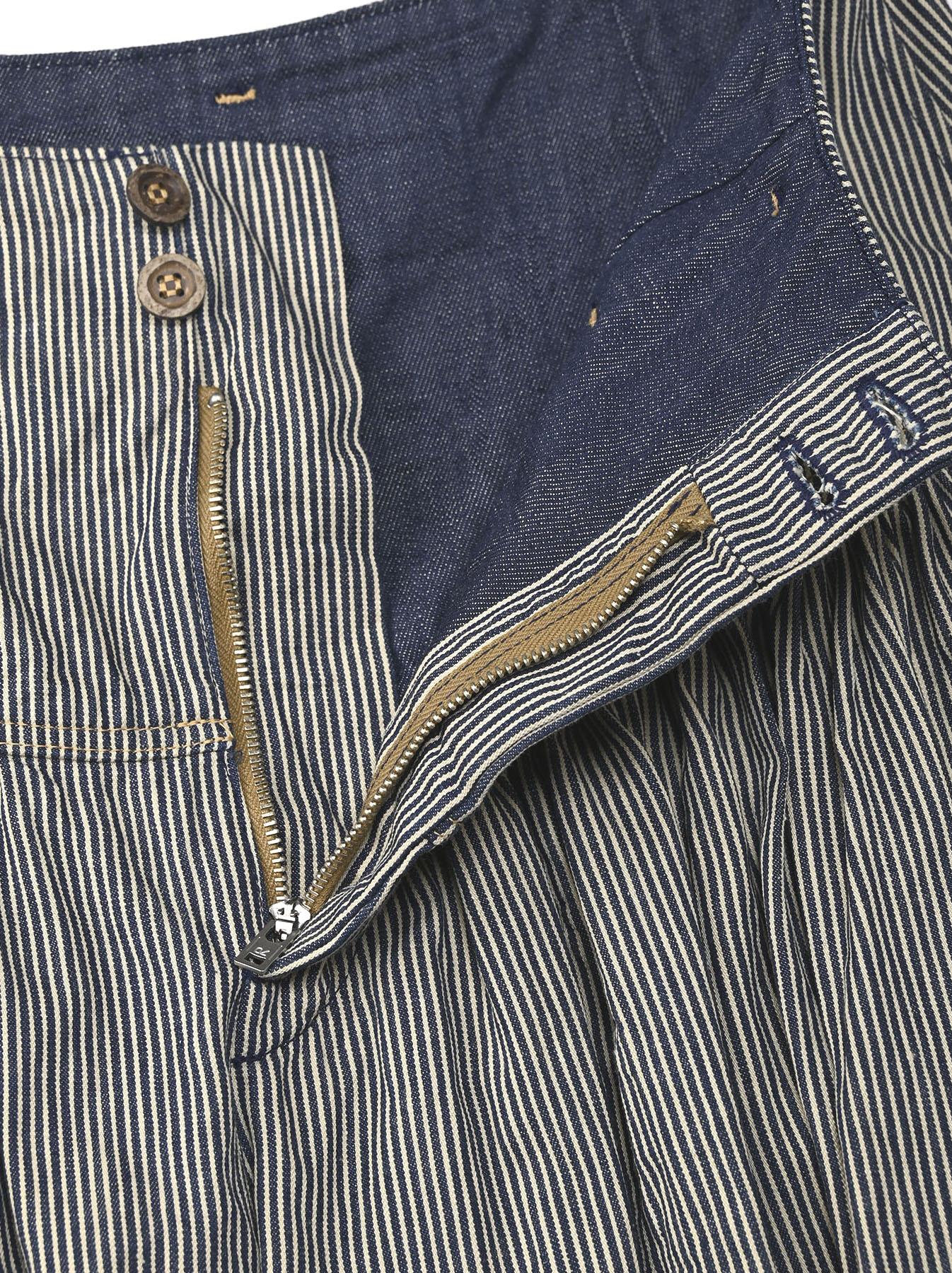 Denim Gathered Culottes Skirt(0721)-8