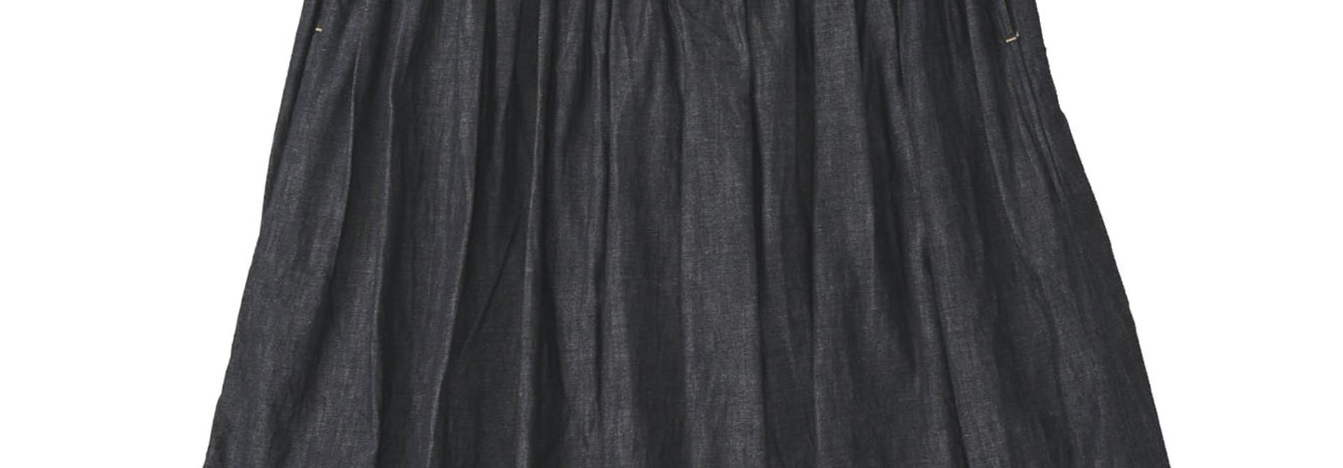 Denim Gathered Culottes Skirt(0721)
