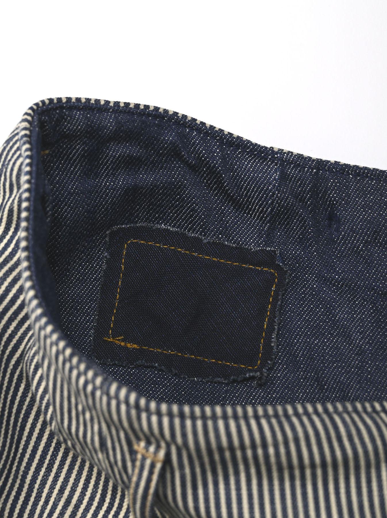 Denim Gathered Culottes Skirt(0721)-11