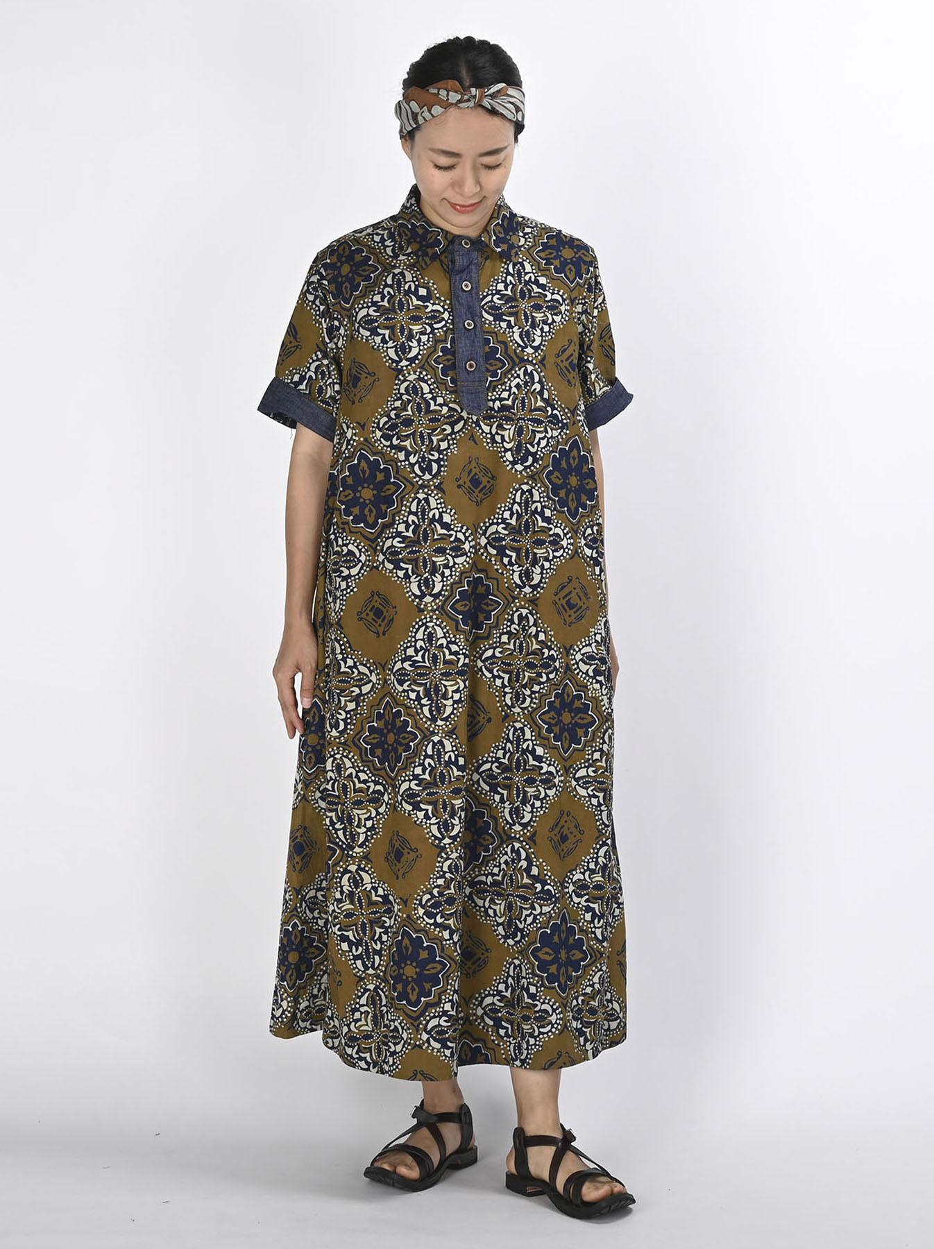 Batik Printed Capri Dress(0721)-3