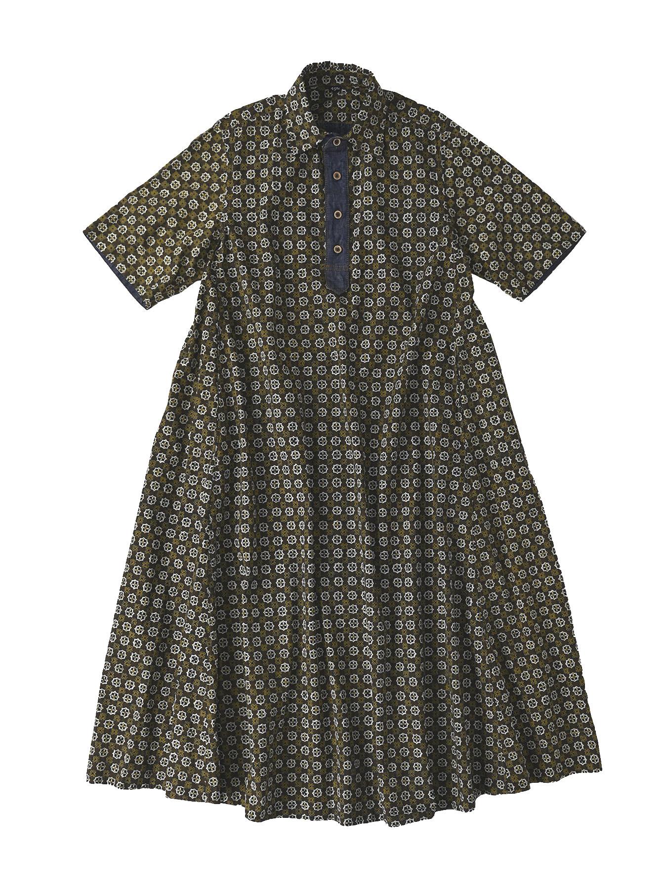 Batik Printed Capri Dress(0721)-6
