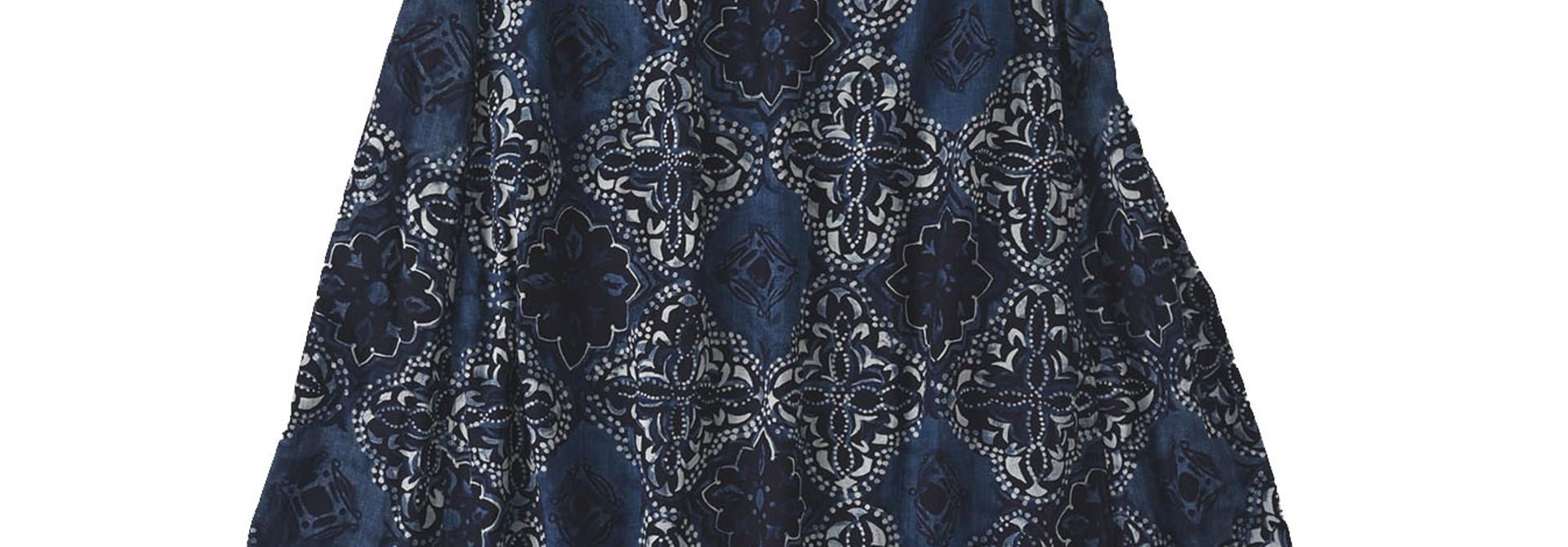 Batik Printed Capri Dress(0721)