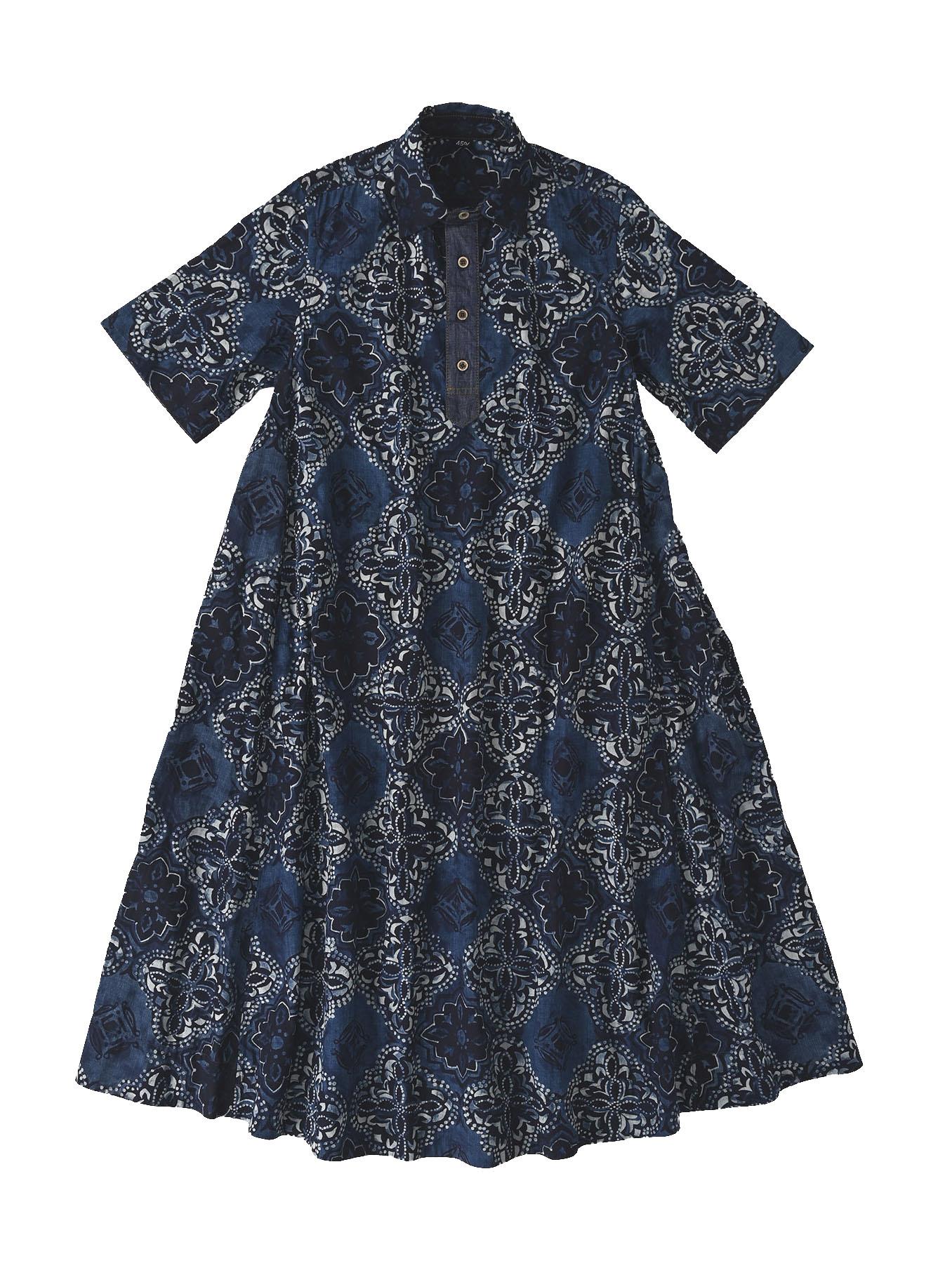 Batik Printed Capri Dress(0721)-1