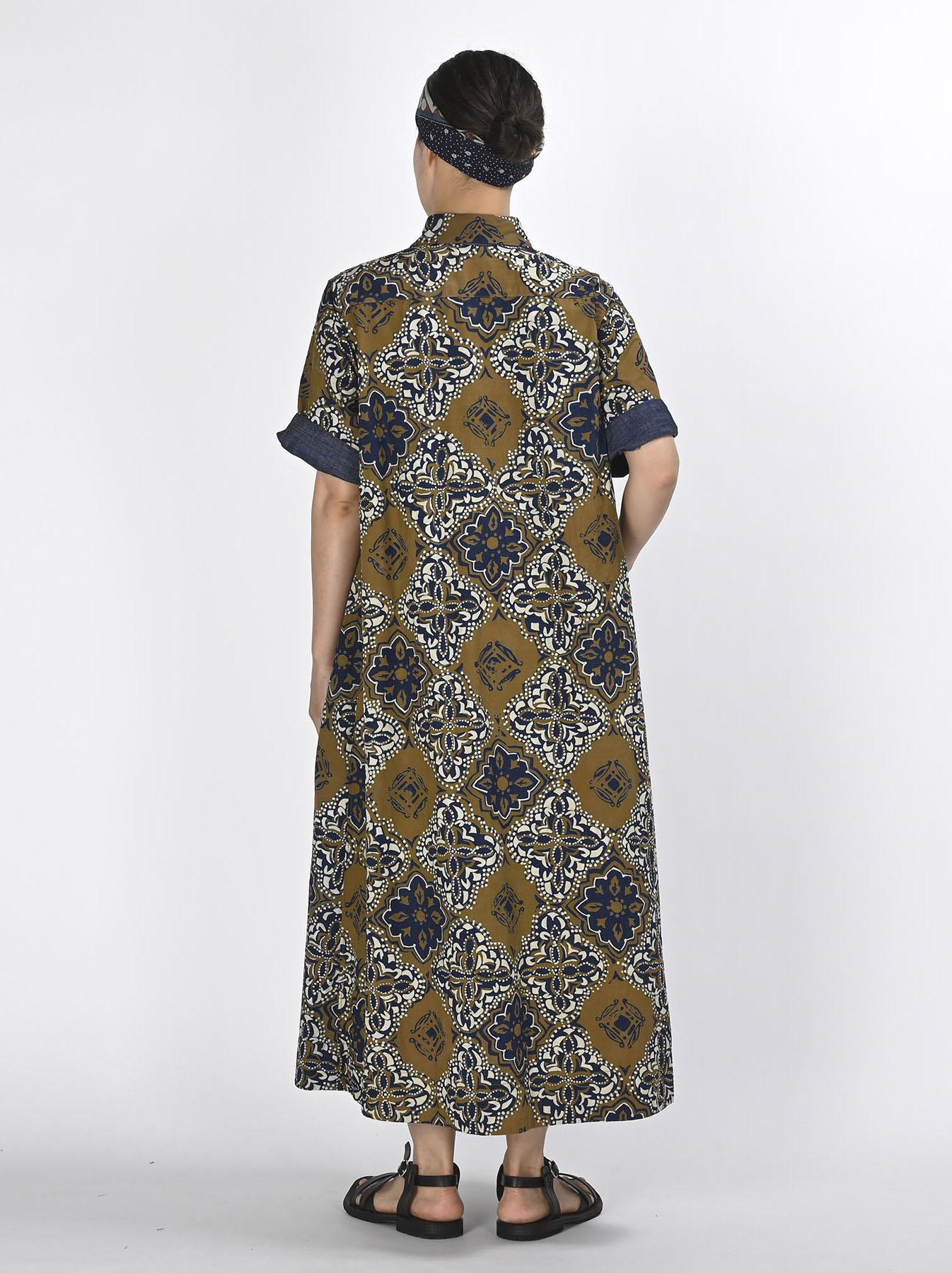 Batik Printed Capri Dress(0721)-5