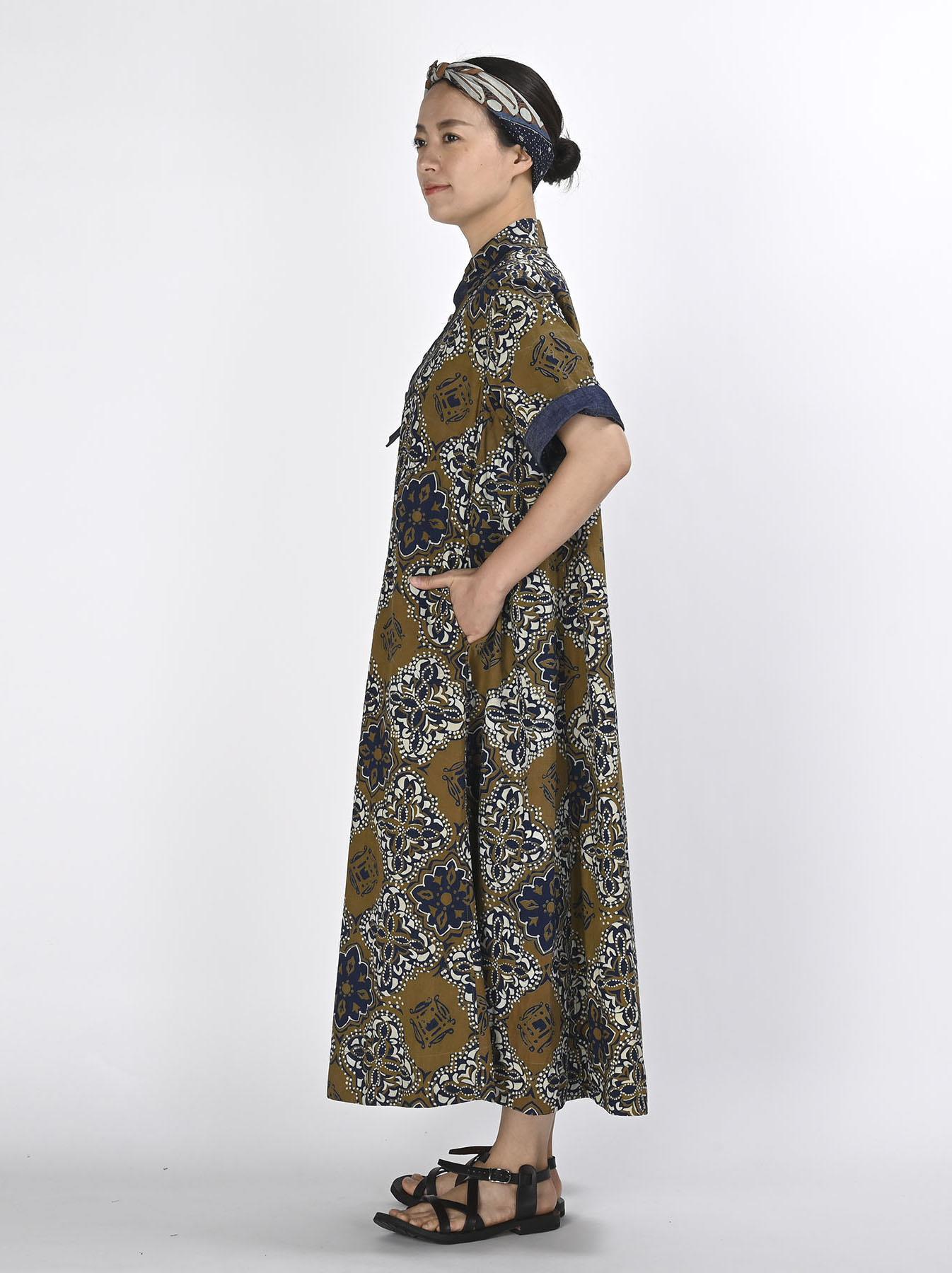 Batik Printed Capri Dress(0721)-4