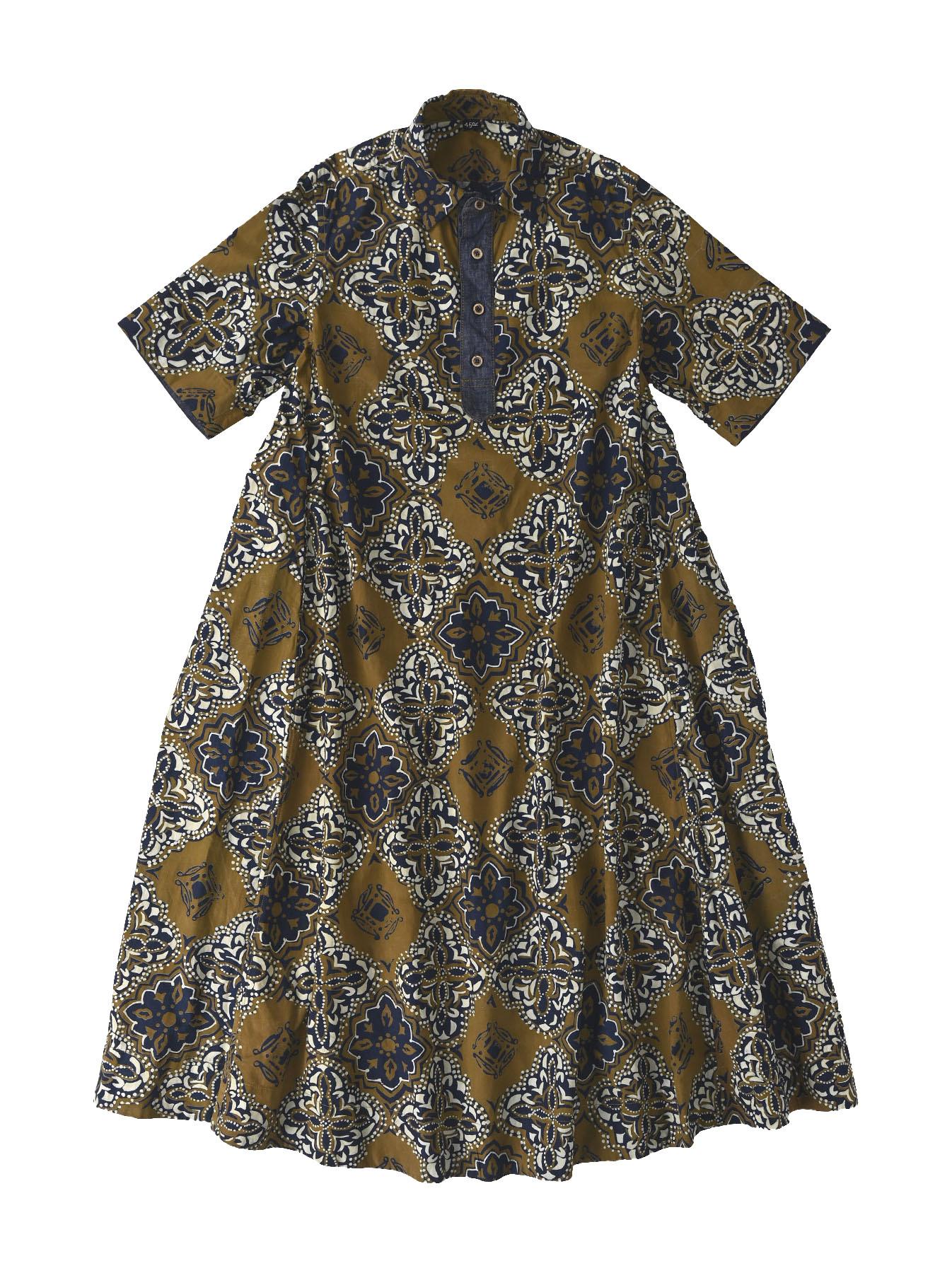 Batik Printed Capri Dress(0721)-2
