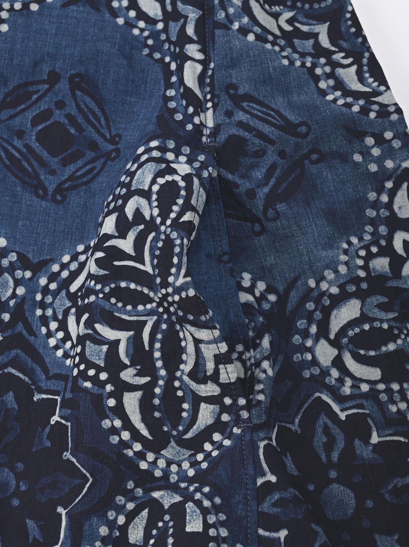 Batik Printed Capri Dress(0721)-8