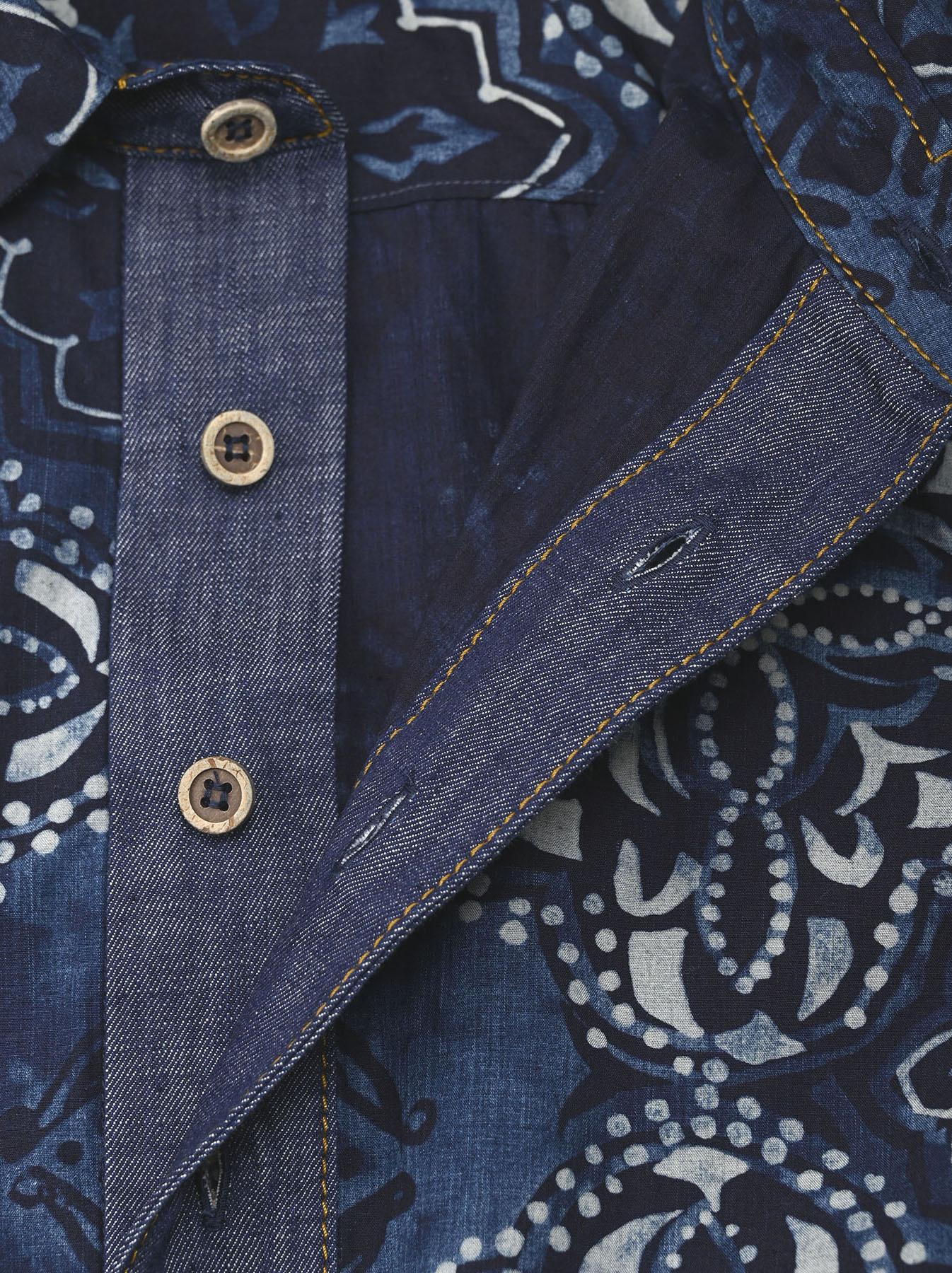 Batik Printed Capri Dress(0721)-7