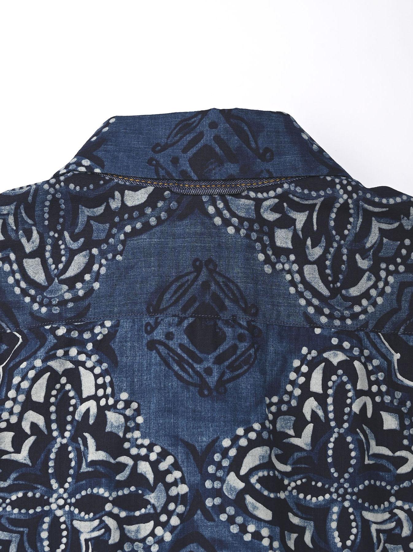 Batik Printed Capri Dress(0721)-10