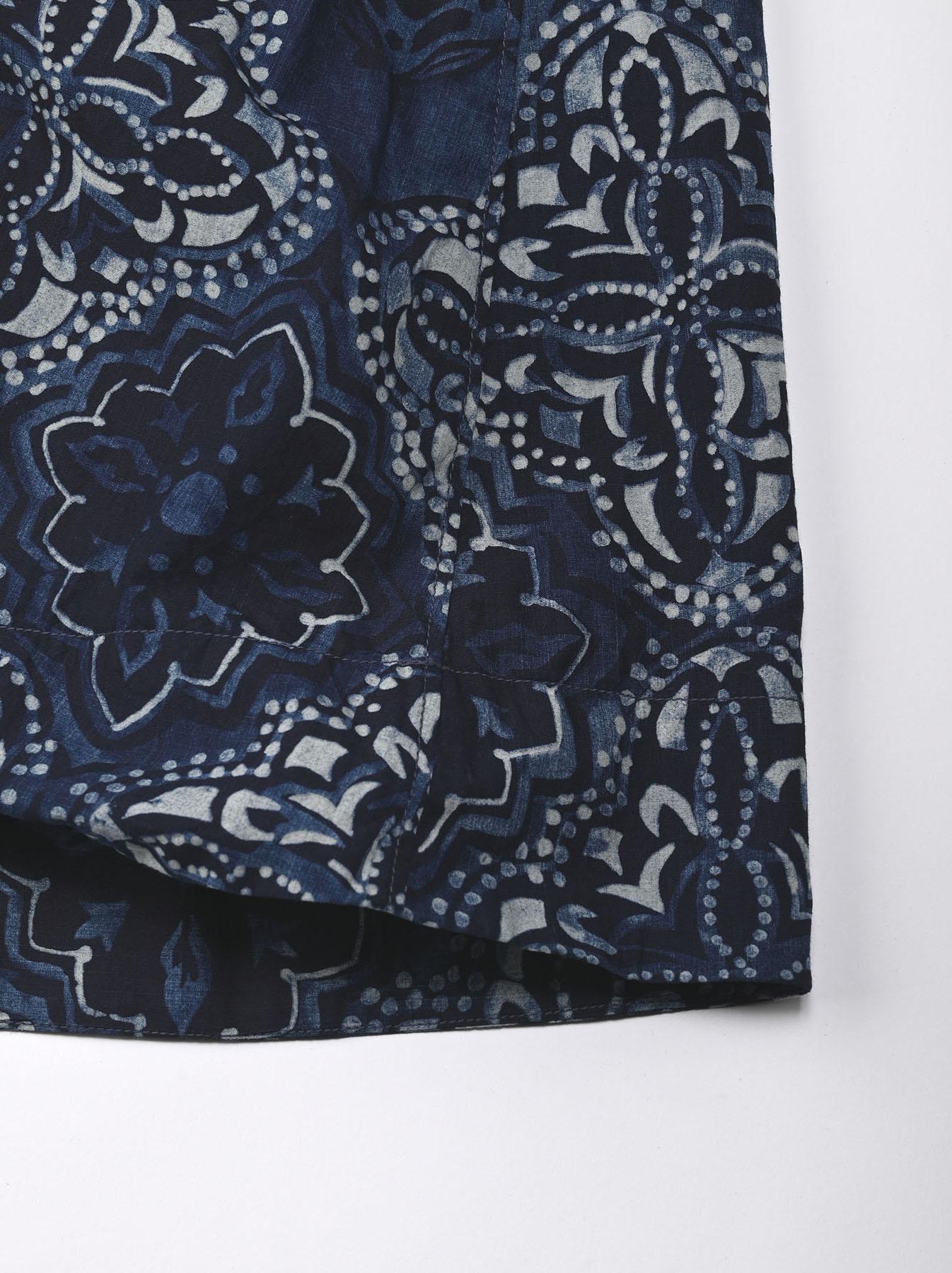 Batik Printed Capri Dress(0721)-11