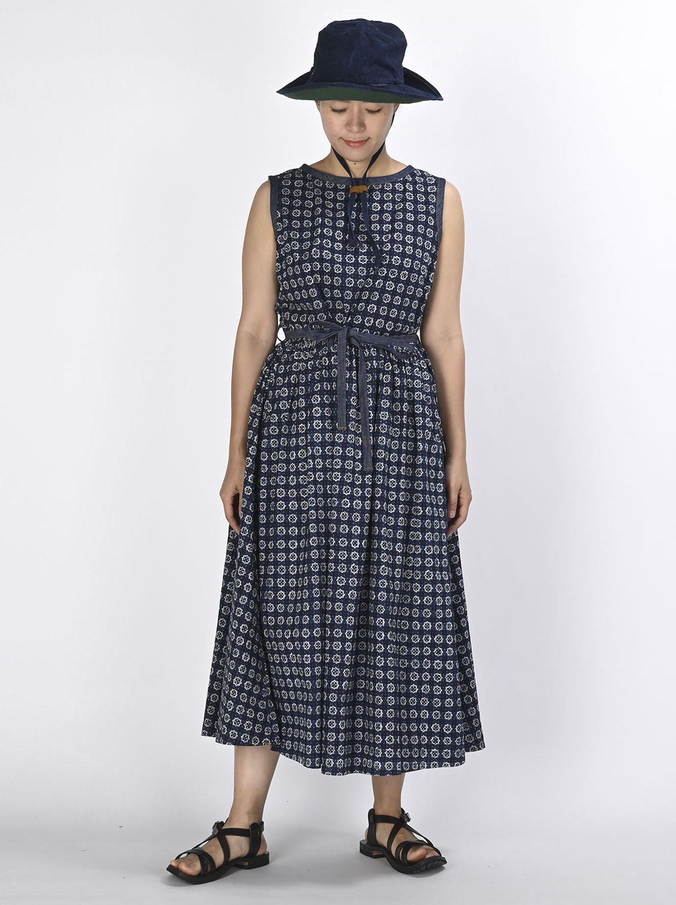 Batik Printed Gathered Dress(0721)-2