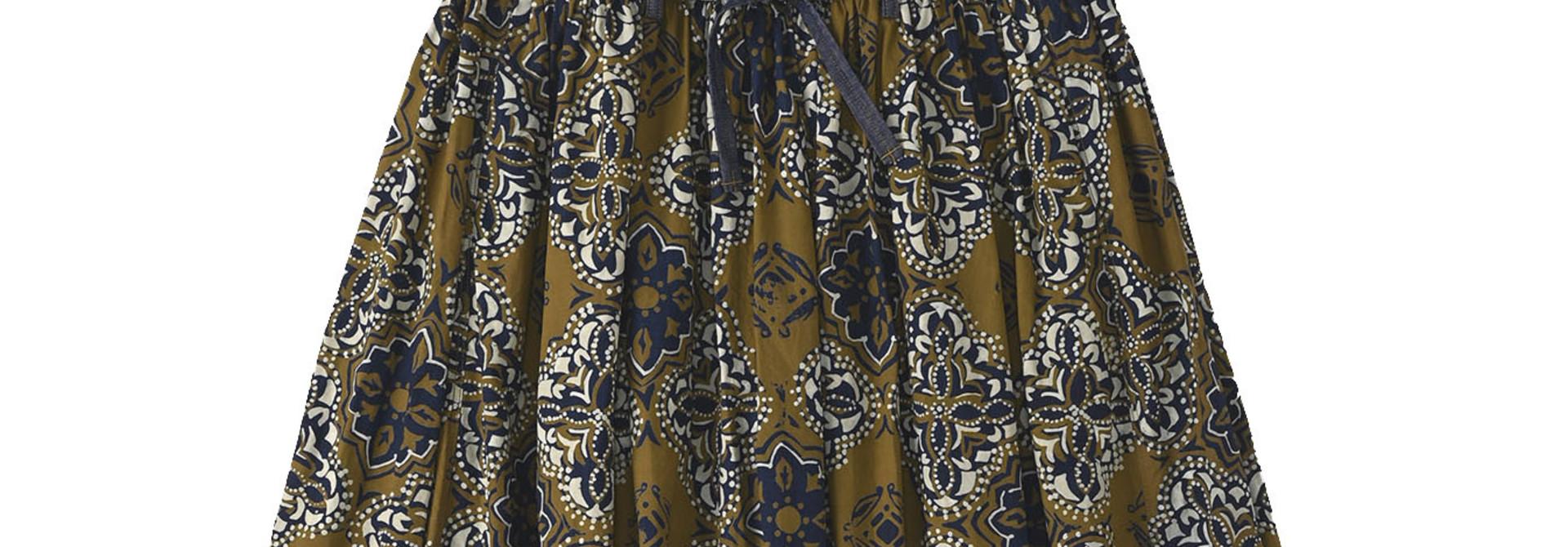 Batik Printed Gathered Dress(0721)