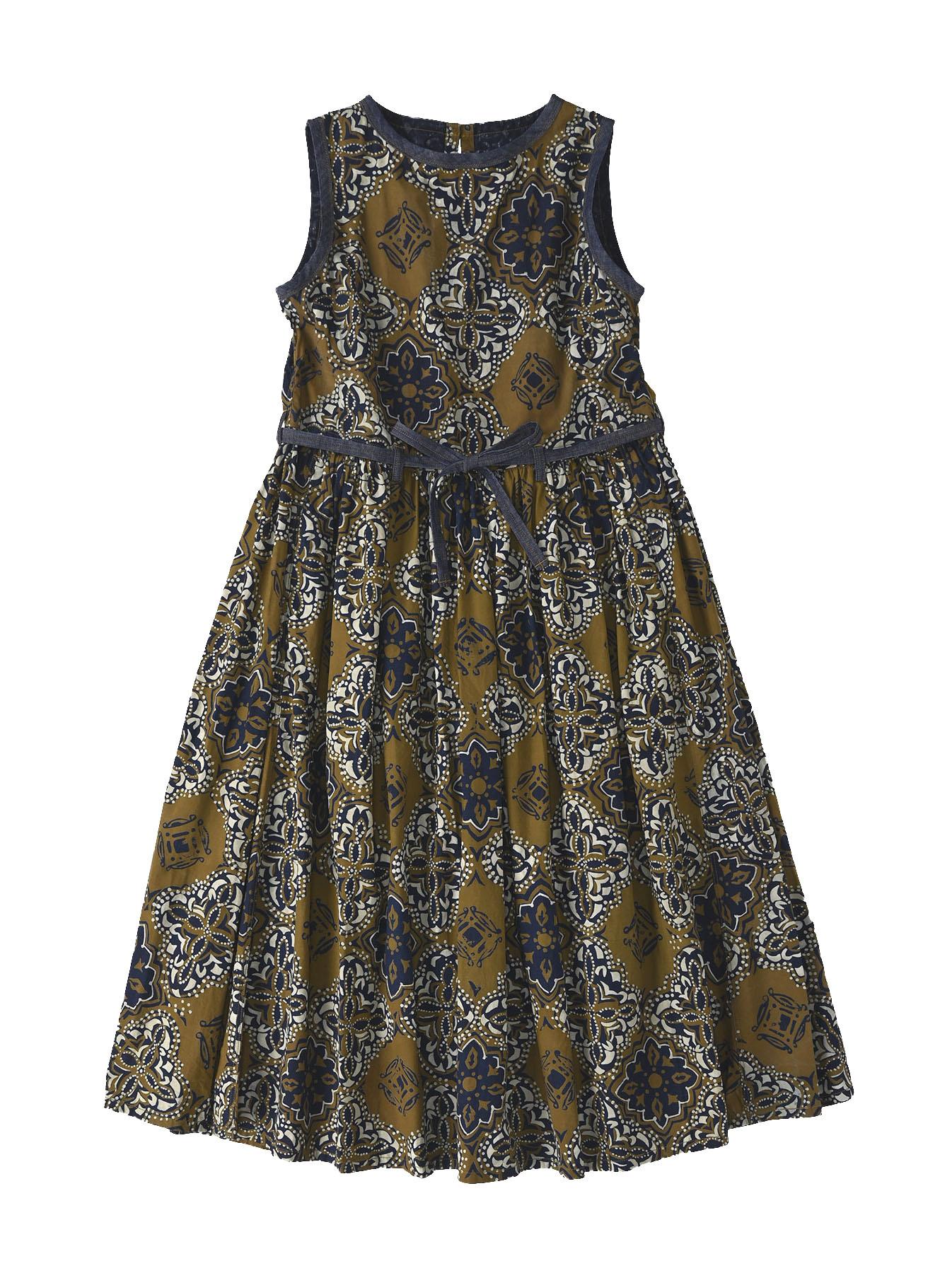 Batik Printed Gathered Dress(0721)-1