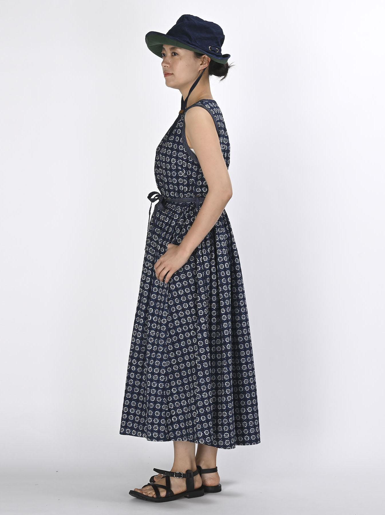 Batik Printed Gathered Dress(0721)-3
