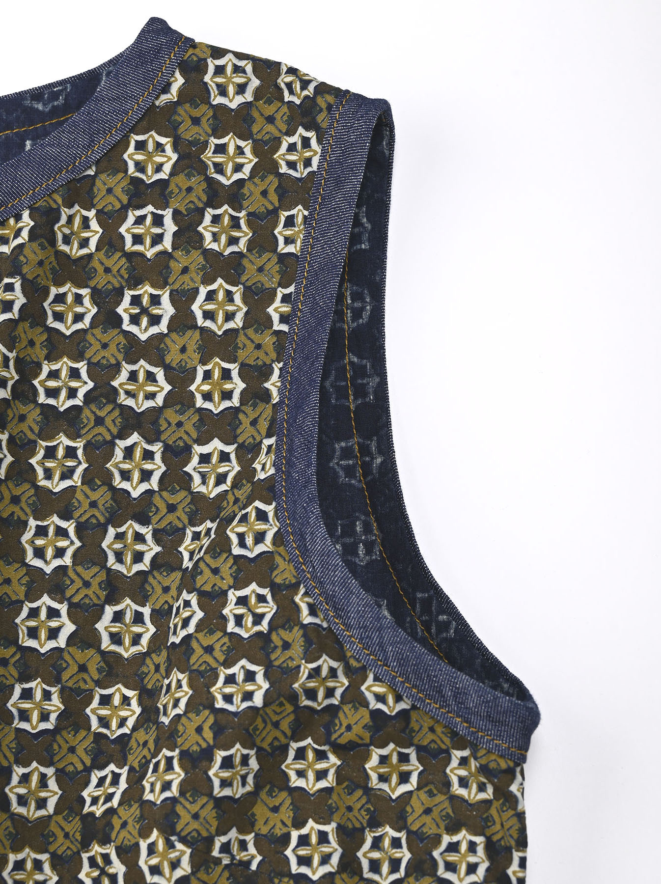 Batik Printed Gathered Dress(0721)-7