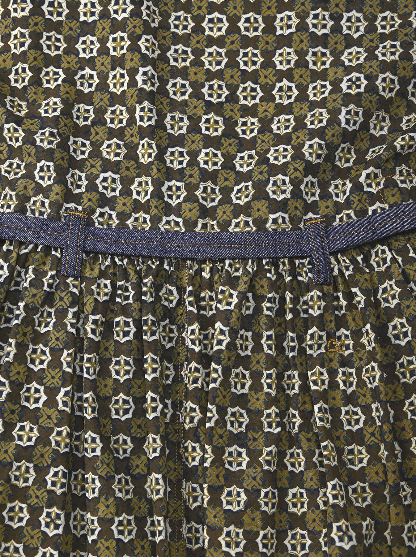 Batik Printed Gathered Dress(0721)-9