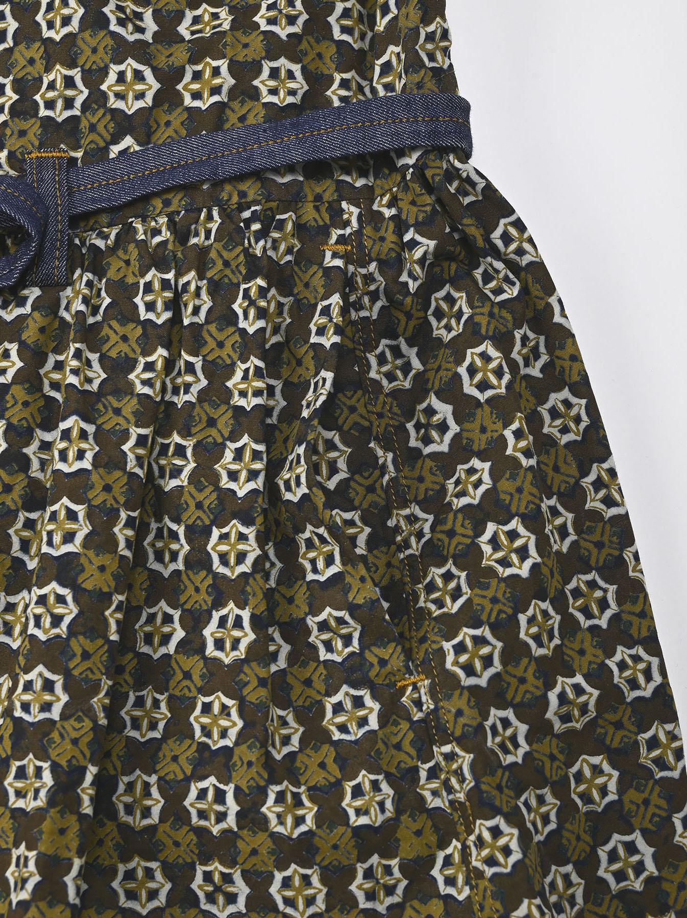 Batik Printed Gathered Dress(0721)-10