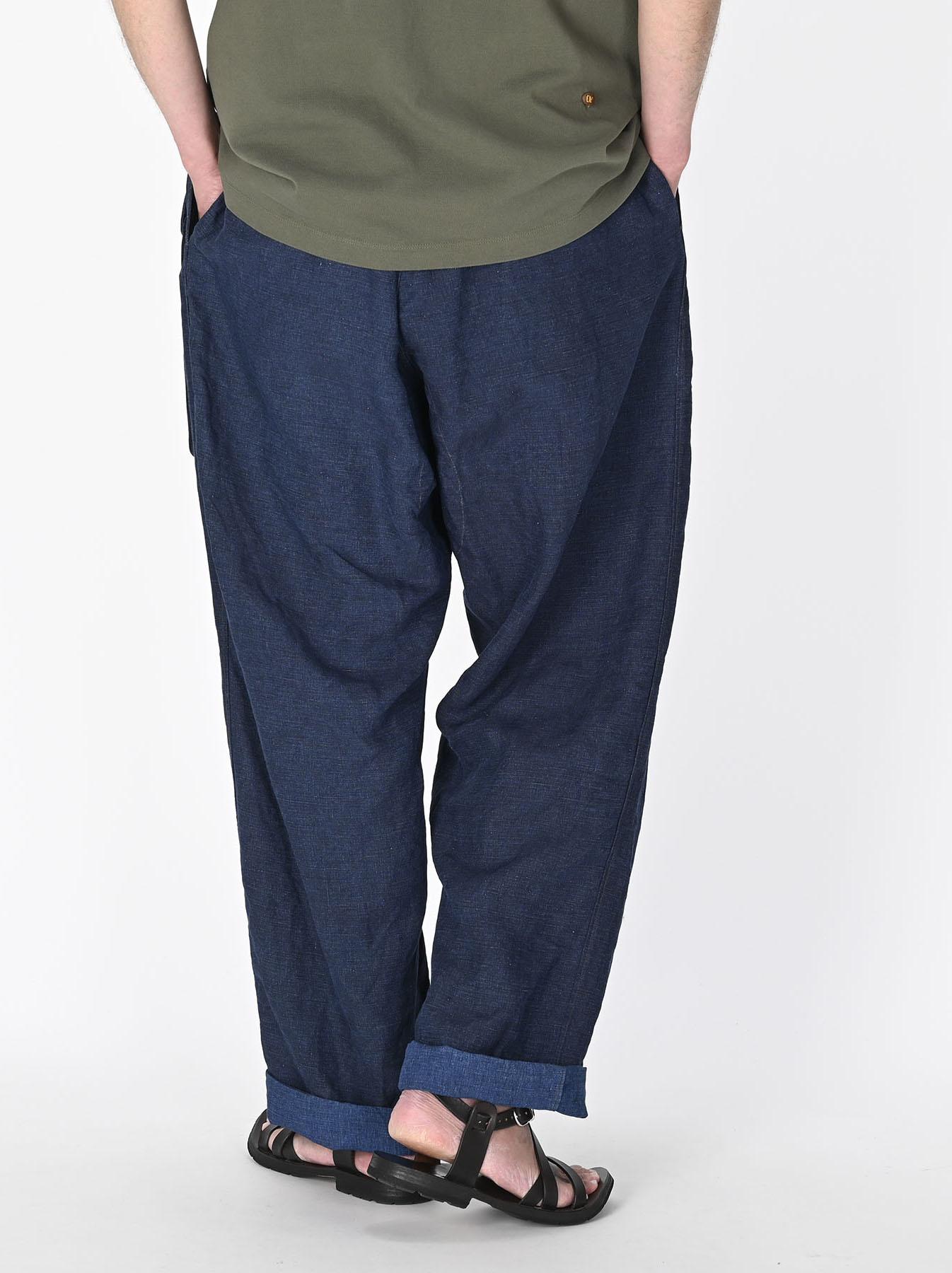 Indigo Nou Linen 908 Easy Sail Pants (0721)-5