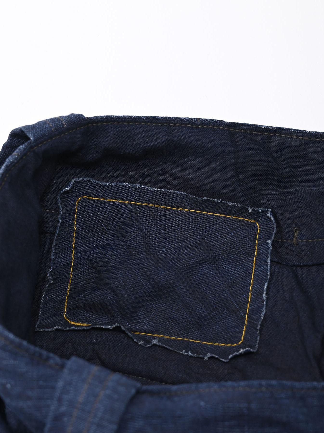 Indigo Nou Linen 908 Easy Sail Pants (0721)-11