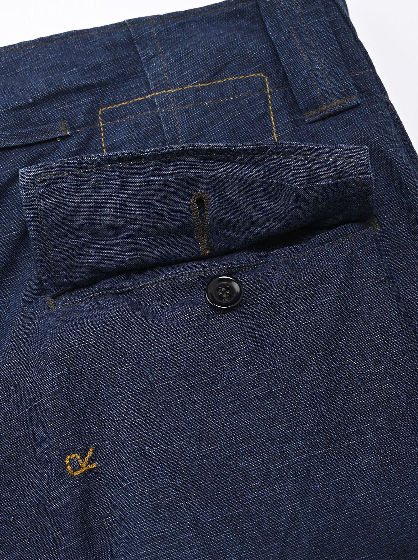 Indigo Nou Linen 908 Easy Sail Pants (0721)-8