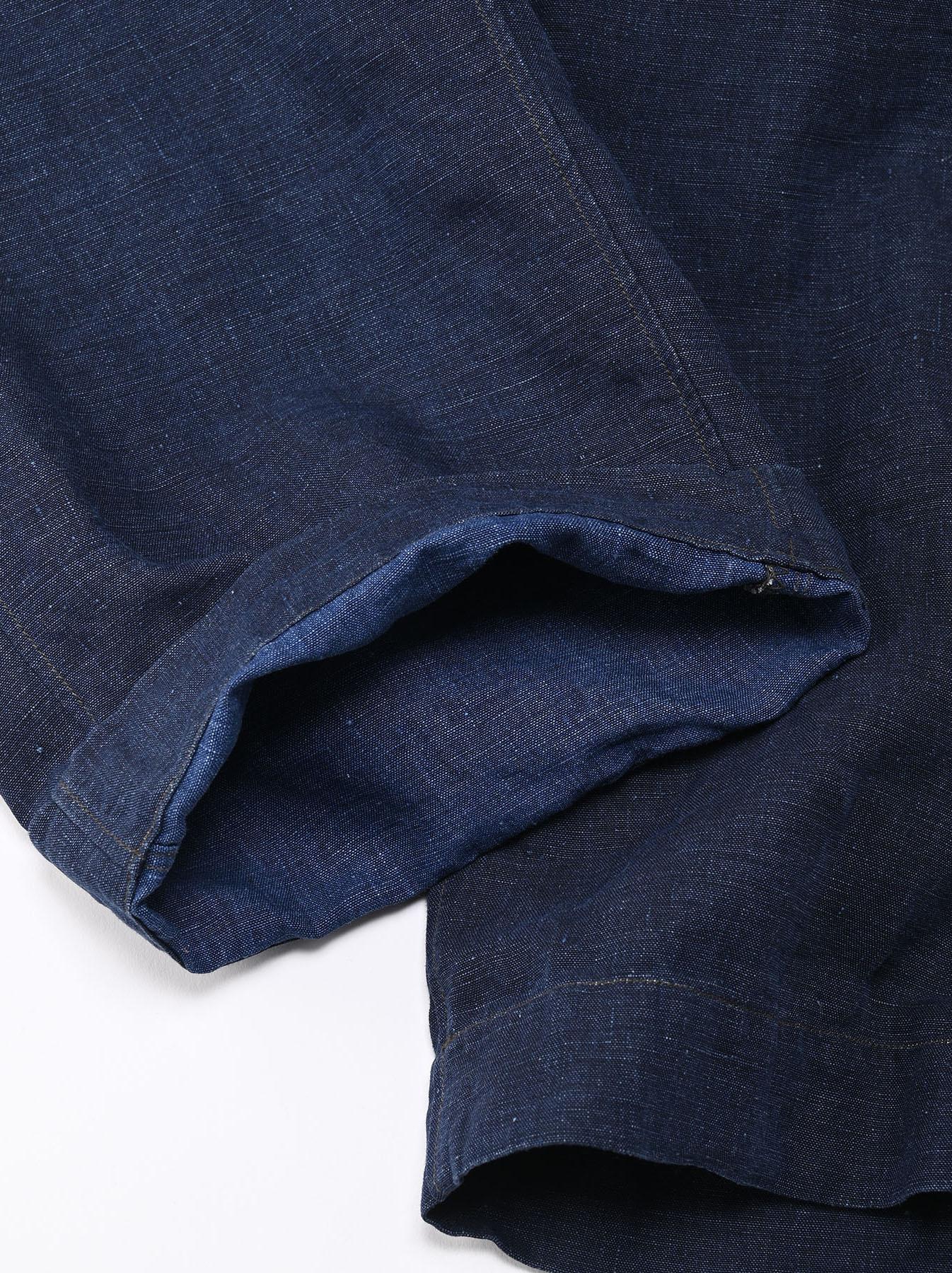 Indigo Nou Linen 908 Easy Sail Pants (0721)-10