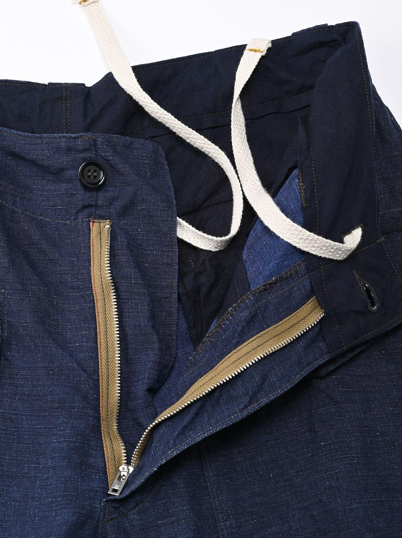 Indigo Nou Linen 908 Easy Sail Pants (0721)-6