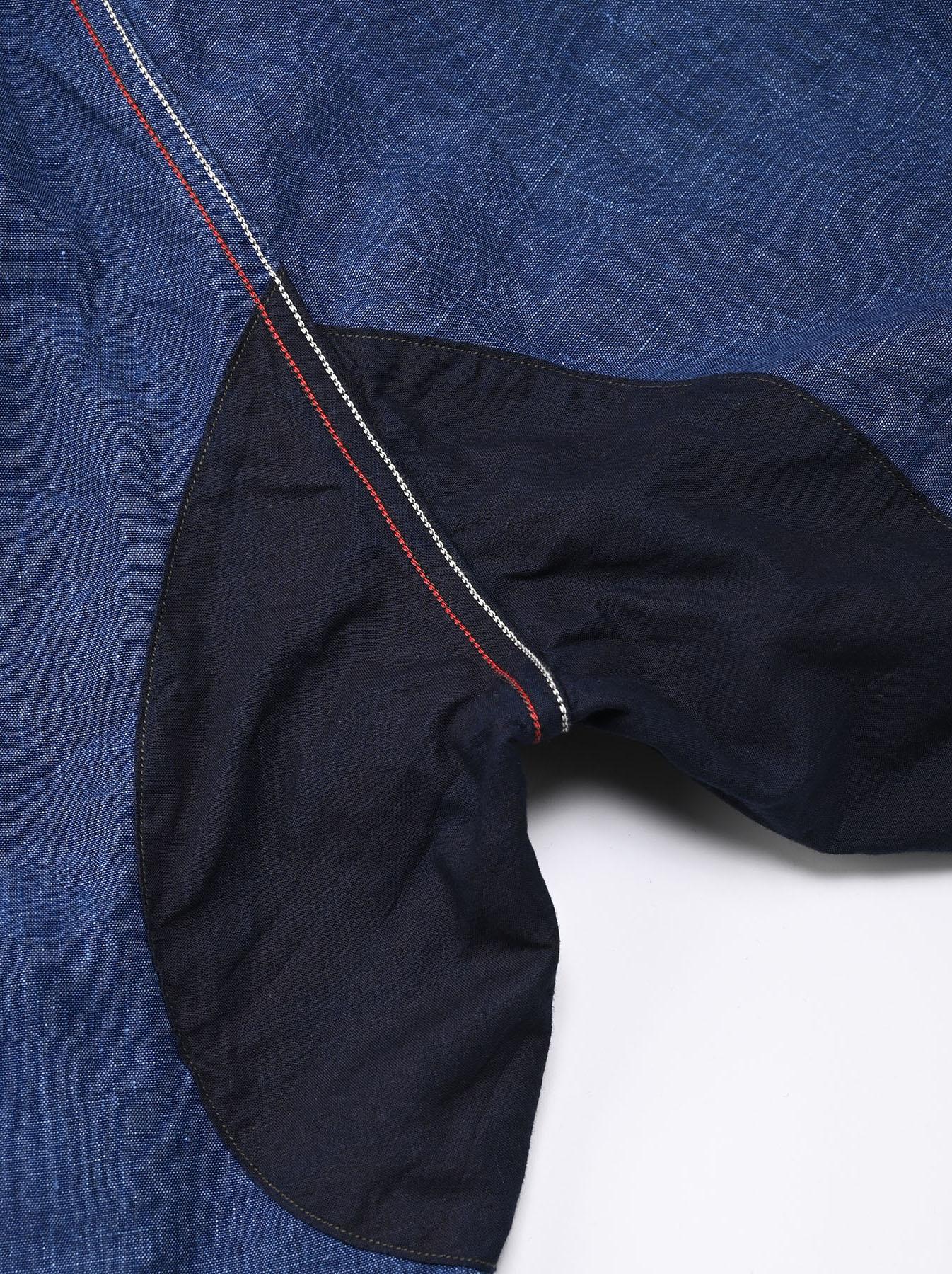 Indigo Nou Linen 908 Easy Sail Pants (0721)-9