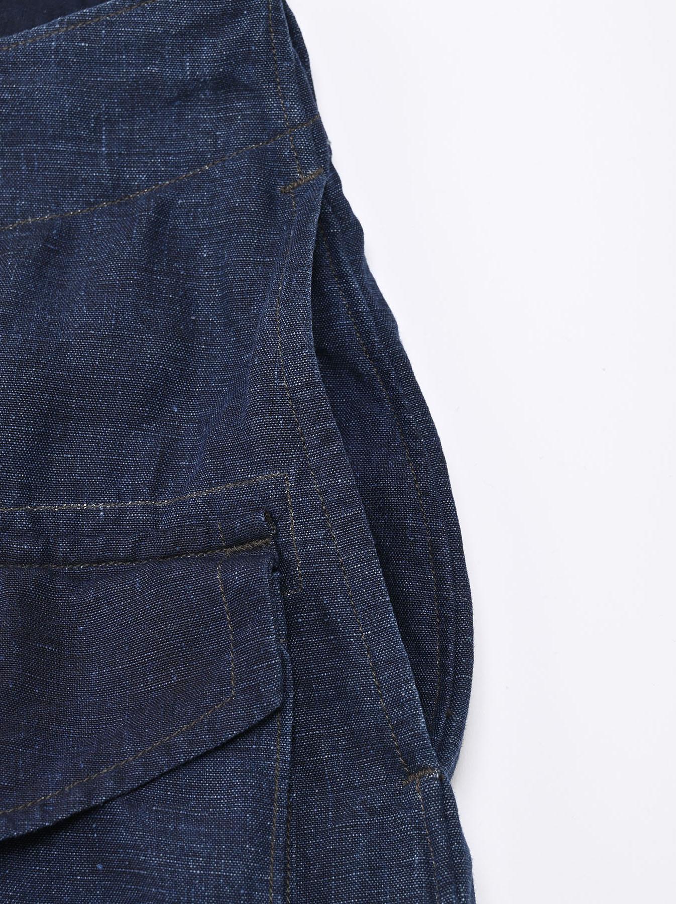 Indigo Nou Linen 908 Easy Sail Pants (0721)-7